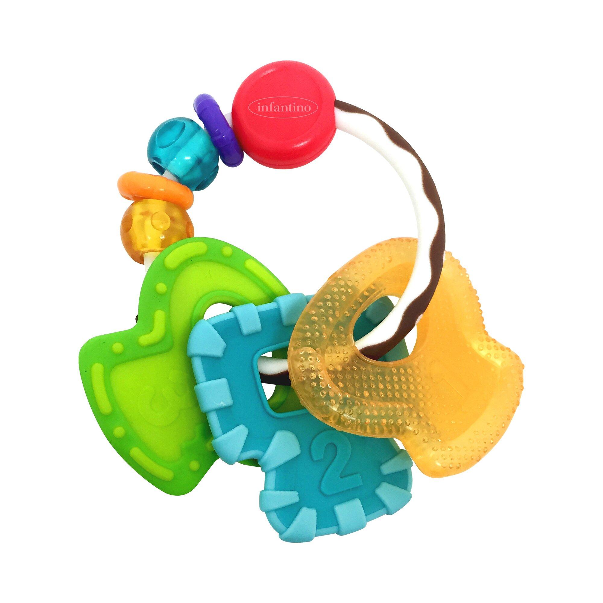 Infantino Rassel mit Beißring Schlüssel Go gaga
