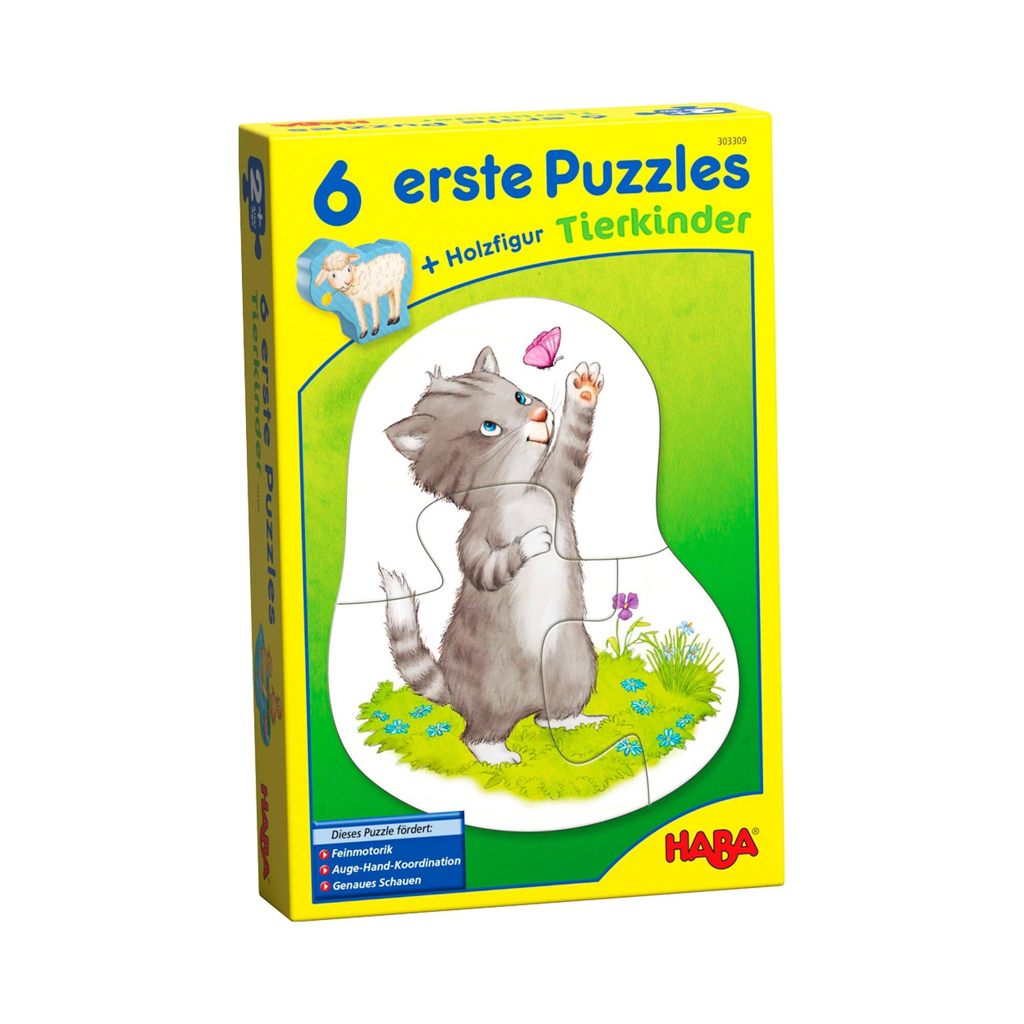 Haba 6 erste Puzzles - Tierkinder