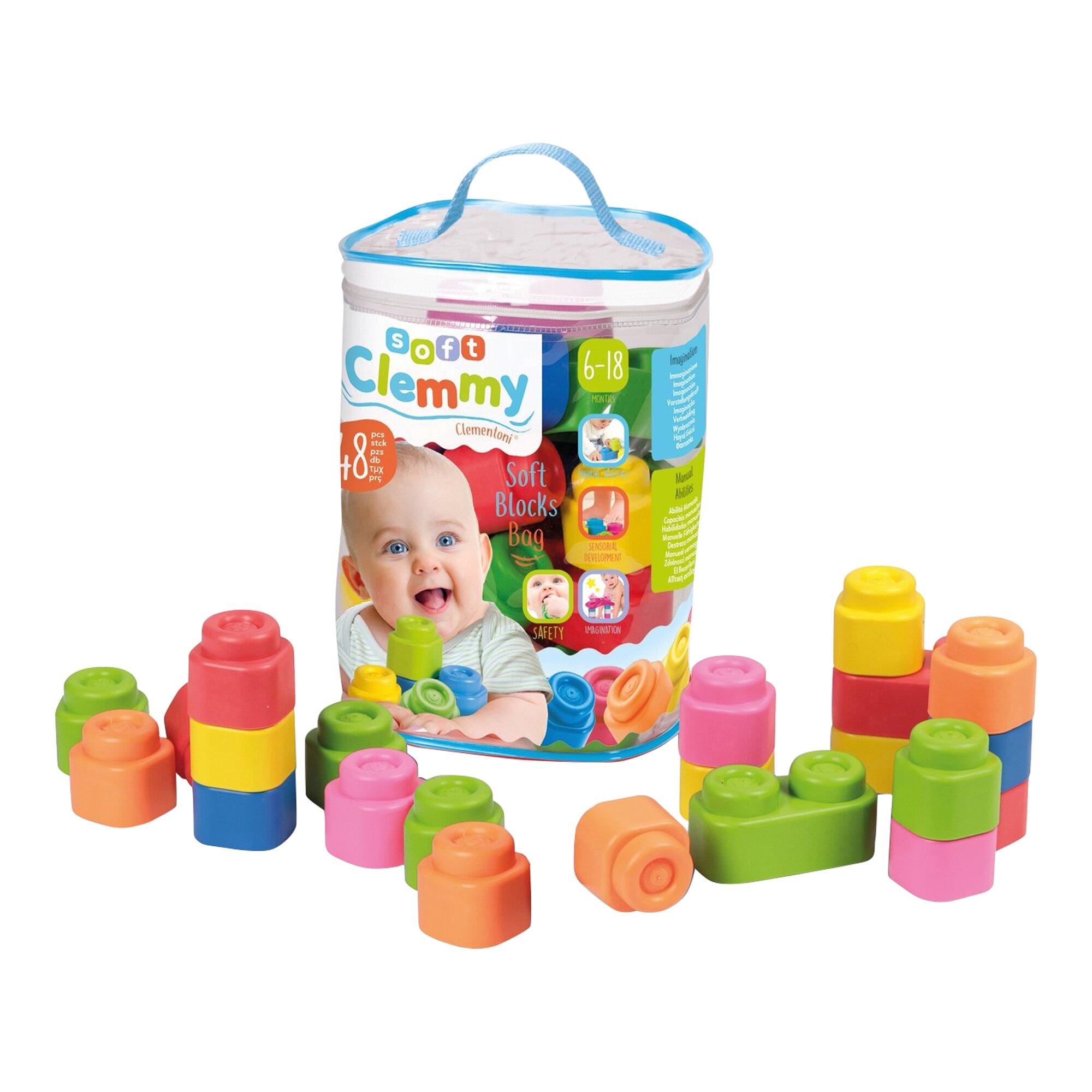Baby Clemmy Softbausteine im Beutel 48 Stück