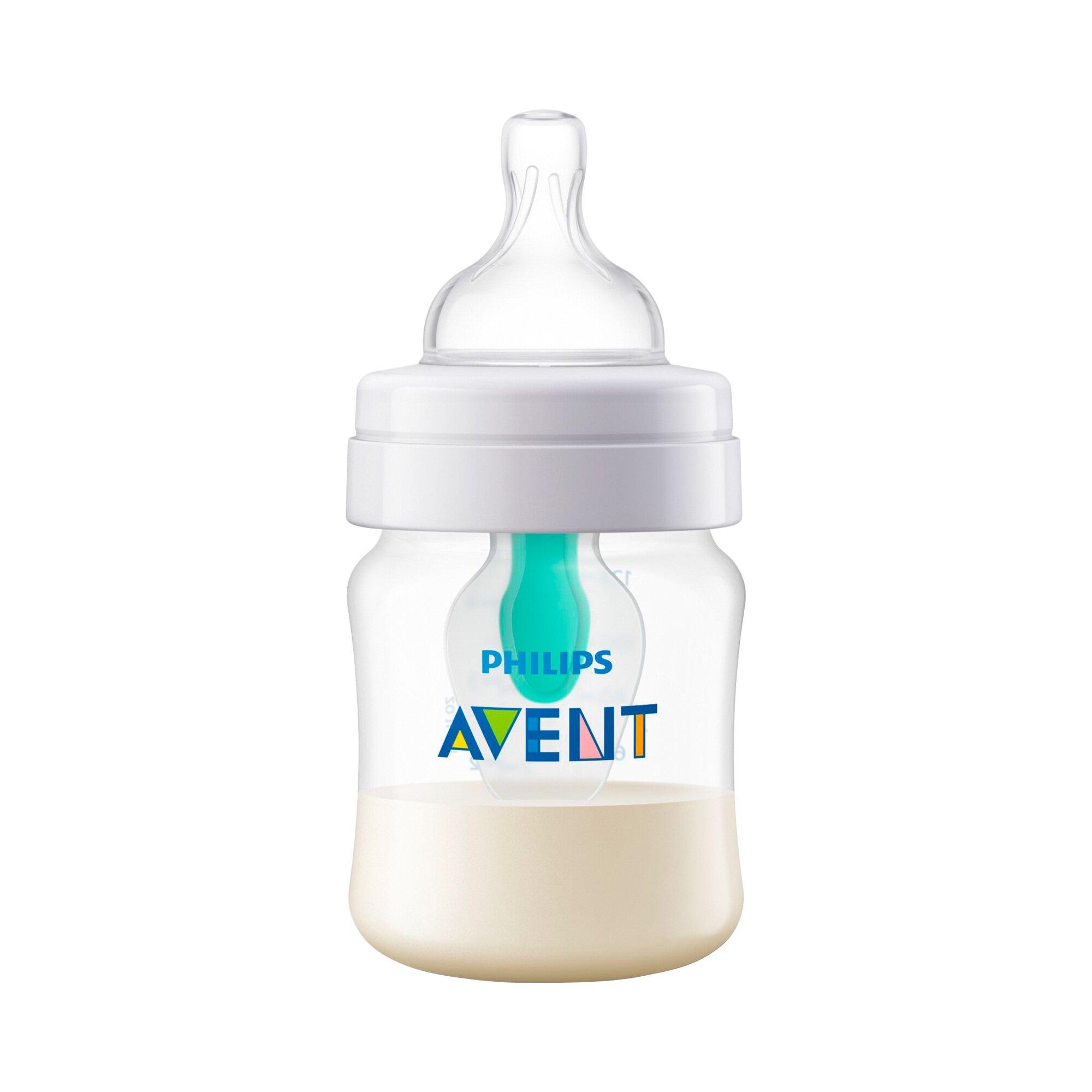 philips-avent-anti-kolik-weithals-flasche-klassik-scf810-14-mit-airfree-ventileinsatz-125ml-kunststoff-ab-geburt