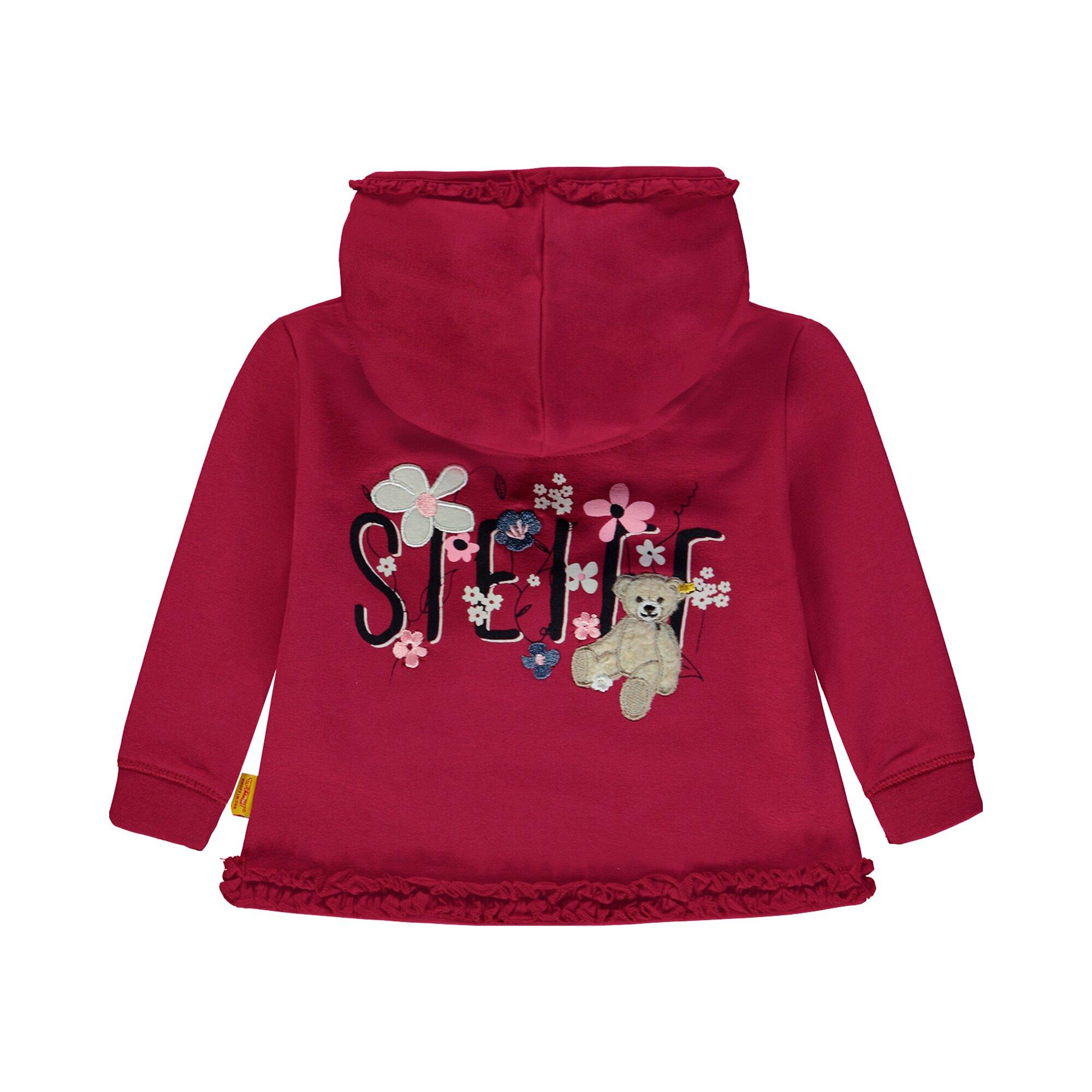 steiff-sweatshirt-mit-kapuze-blumen-teddy