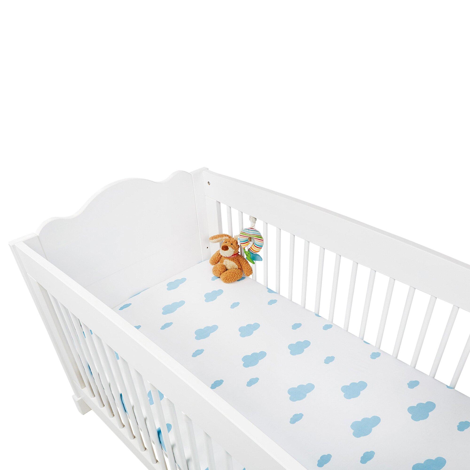 Pinolino 2er-Pack Jersey-Spannbetttücher 60x120 - 70x140 cm blau