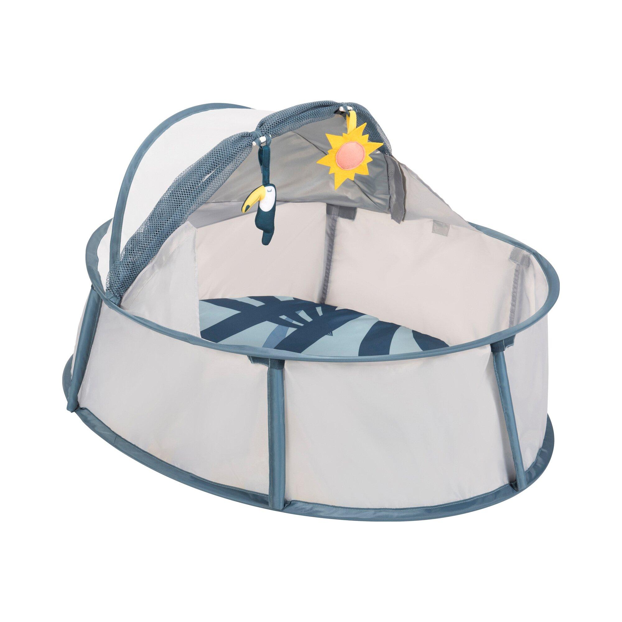 Babymoov Reise-Strandbett Little Babyni Tropical mit UV-Schutz