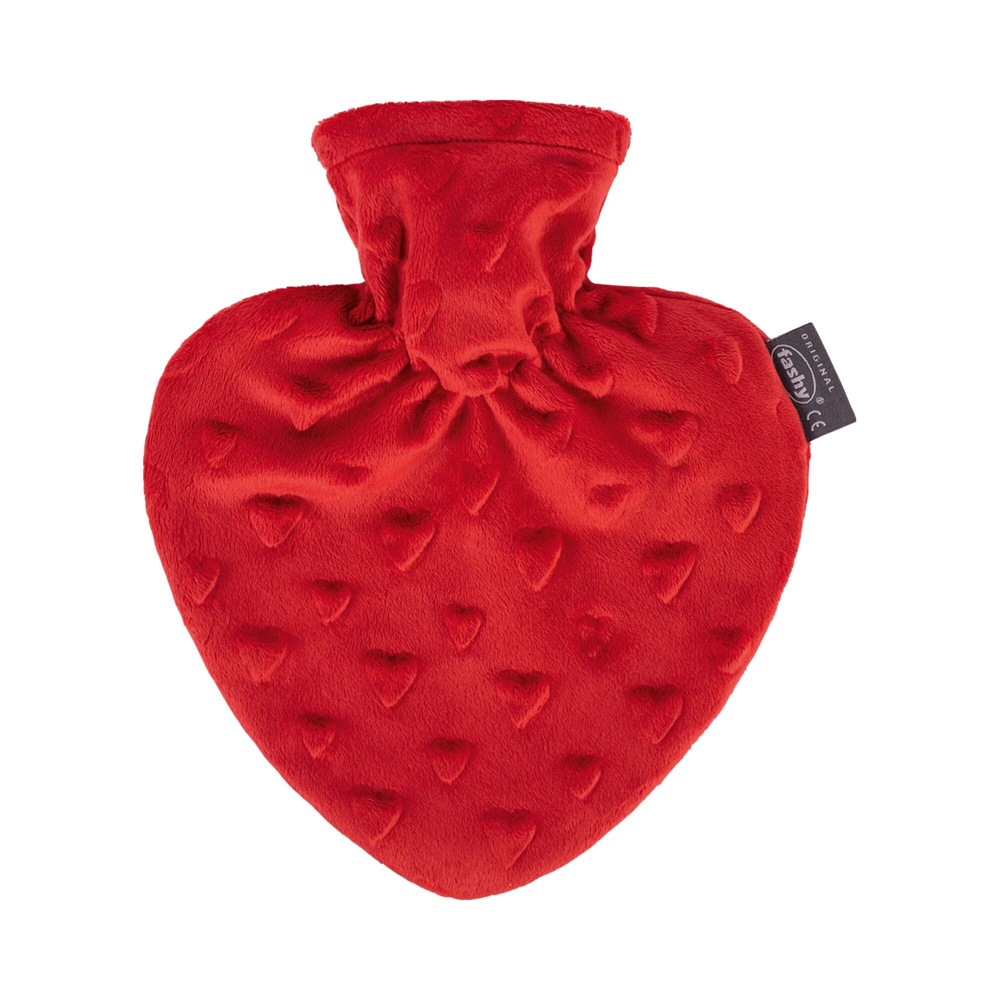 Fashy Wärmflasche mit Bezug im Herzdesign