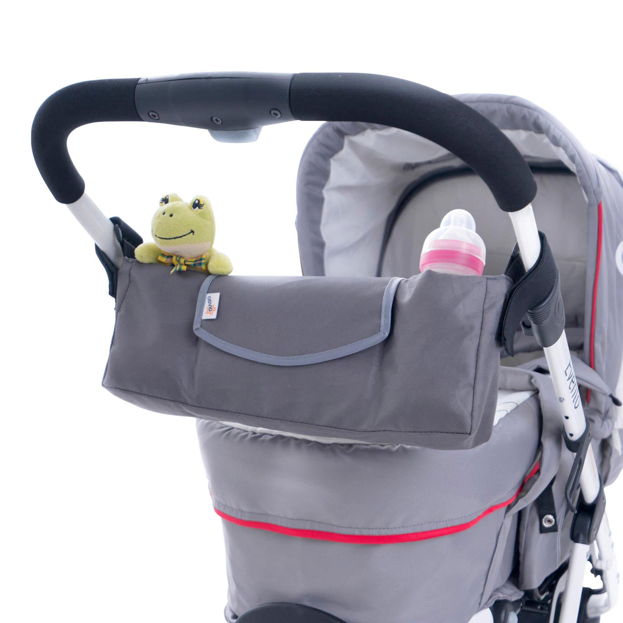 Diago Organizer für Kinderwagen, Kinderwagen Sportwagen, Buggy grau
