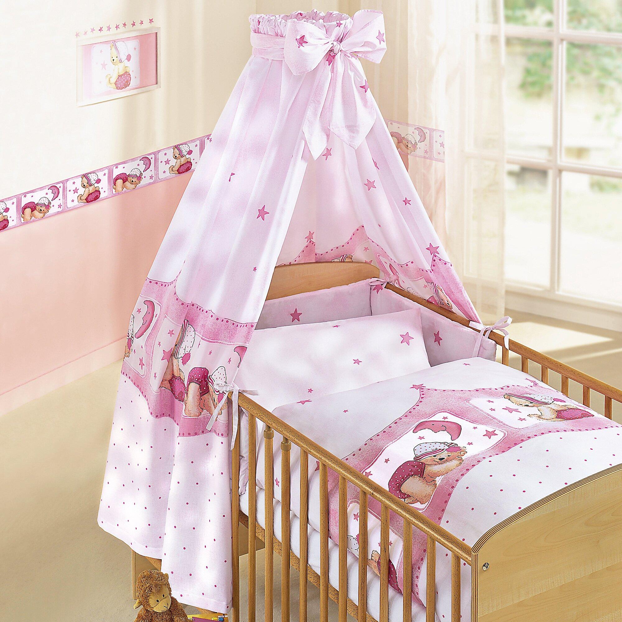 zollner-4-tlg-babybettausstattung-kuschelbar-rosa