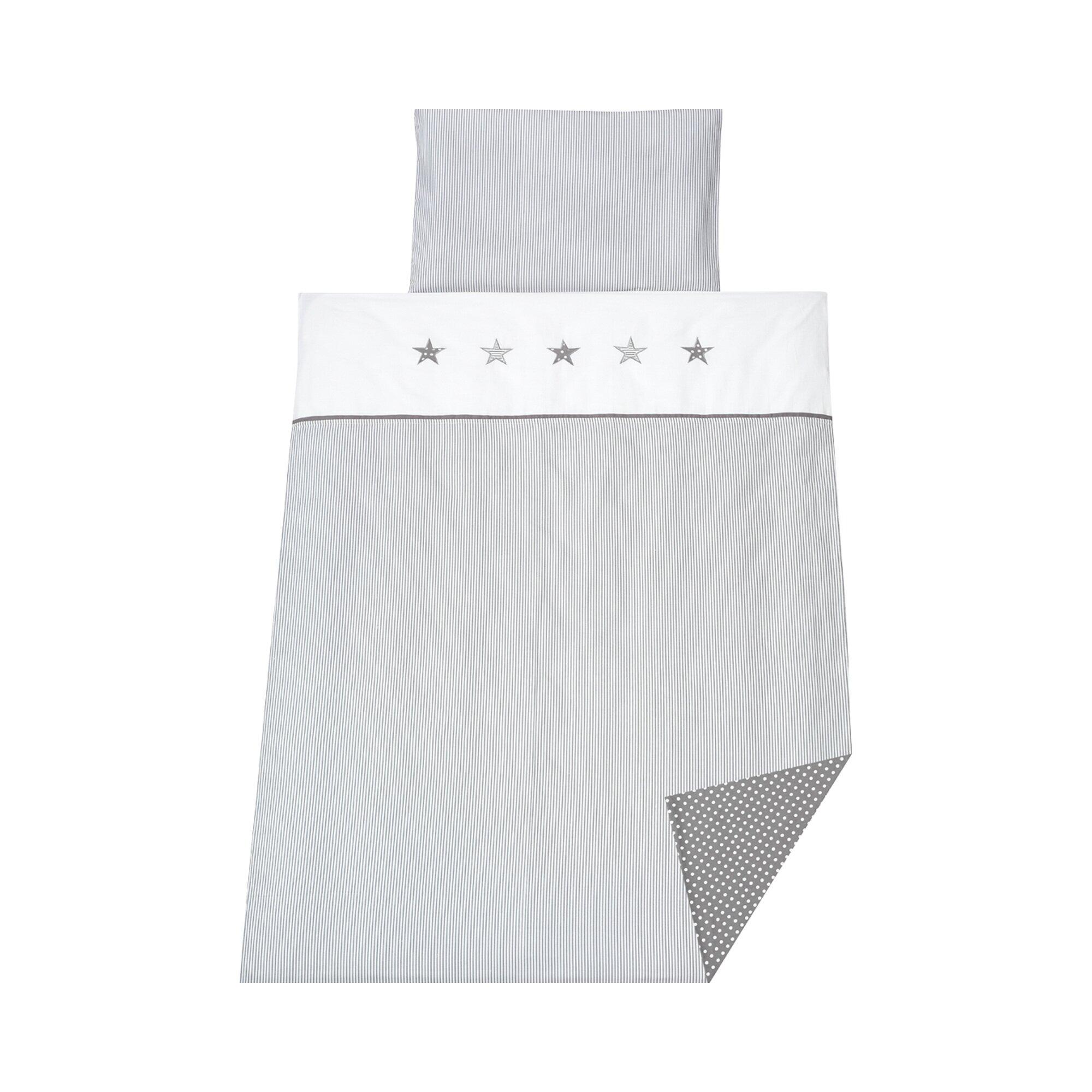schardt-4-tlg-bettset-stern-grau-40x60-100x135-cm-weiss