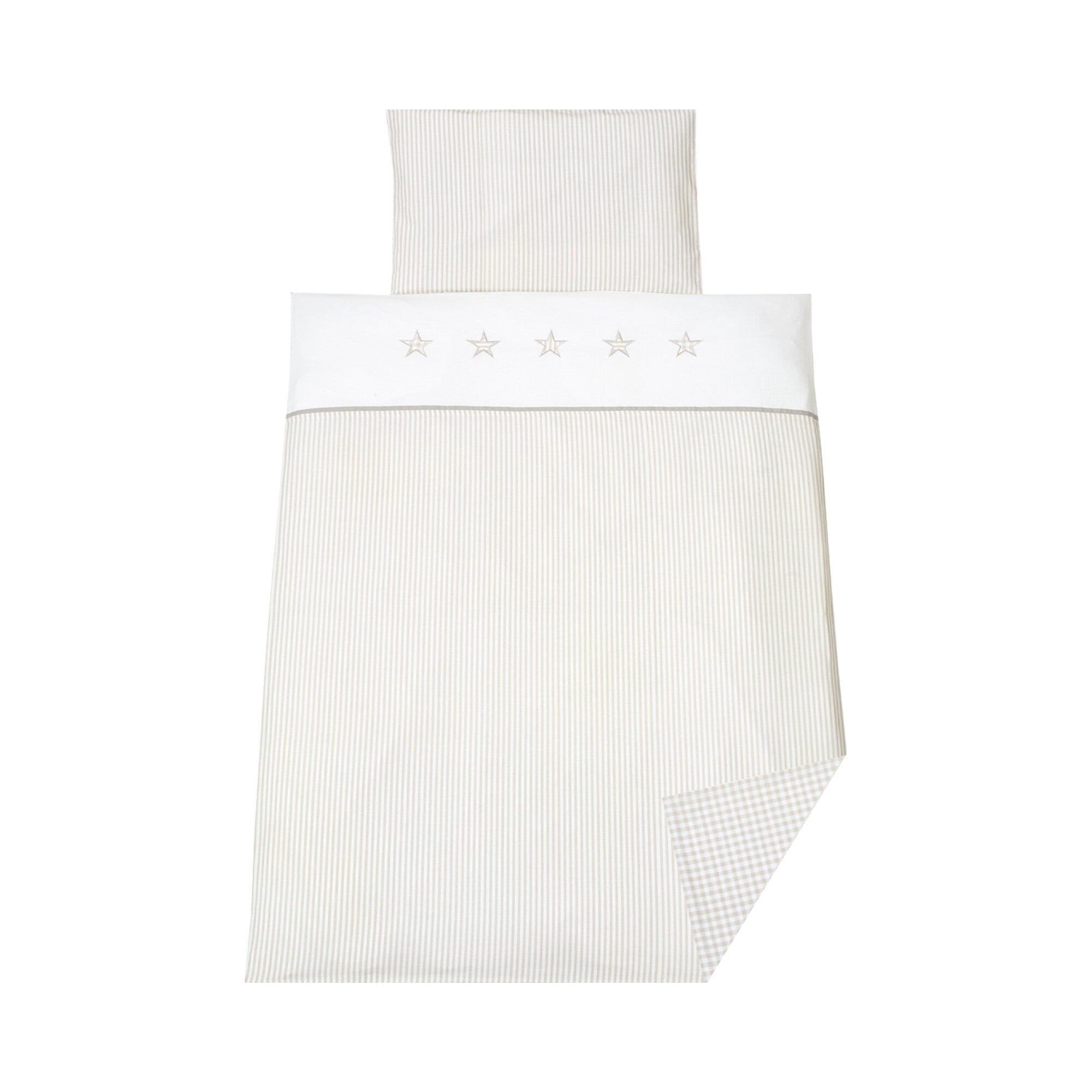 schardt-4-tlg-bettset-stern-beige-40x60-100x135-cm-weiss