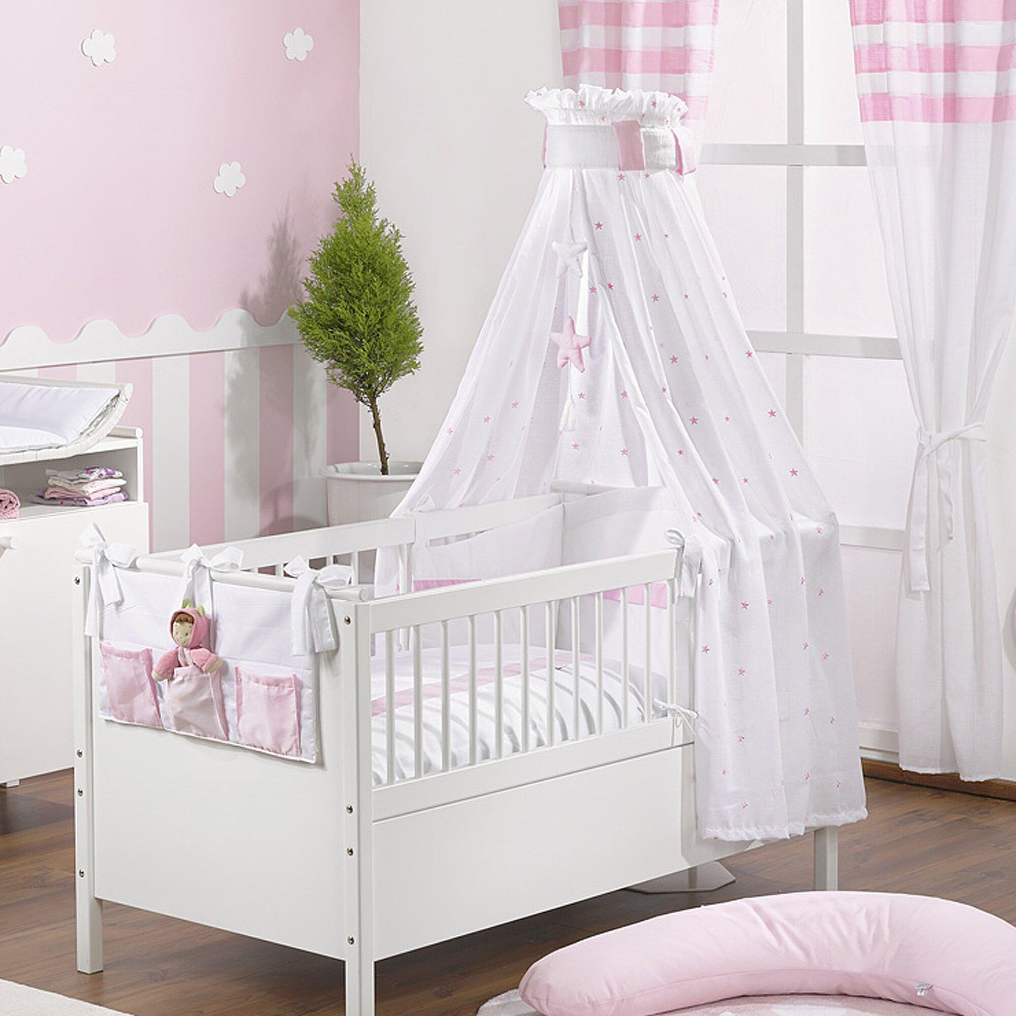 christiane-wegner-4-tlg-babybettausstattung-bambina-weiss