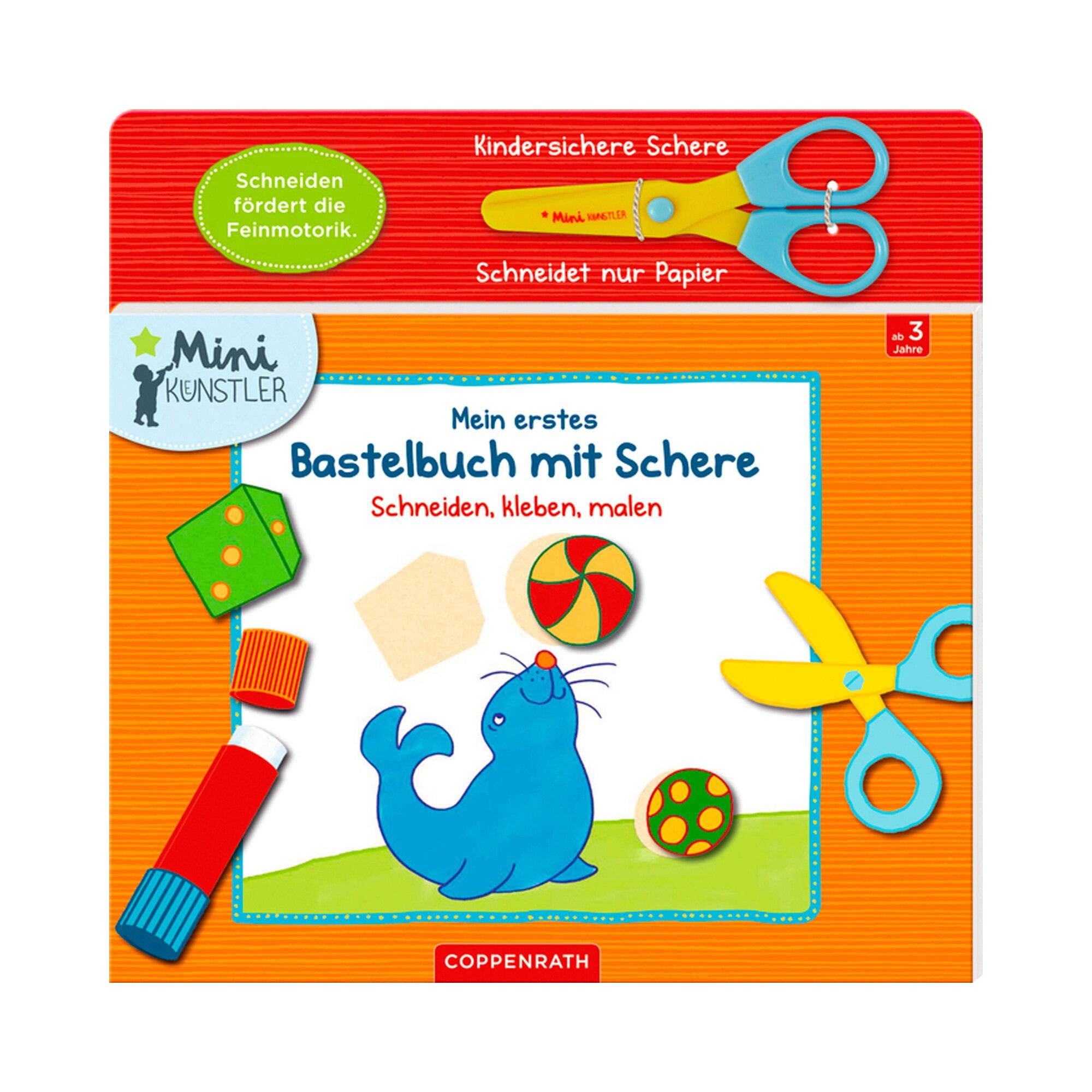 Coppenrath Die Spiegelburg Kreativbuch Mein erstes Bastelbuch mit Schere Schneiden, kleben, malen Mini Künstler