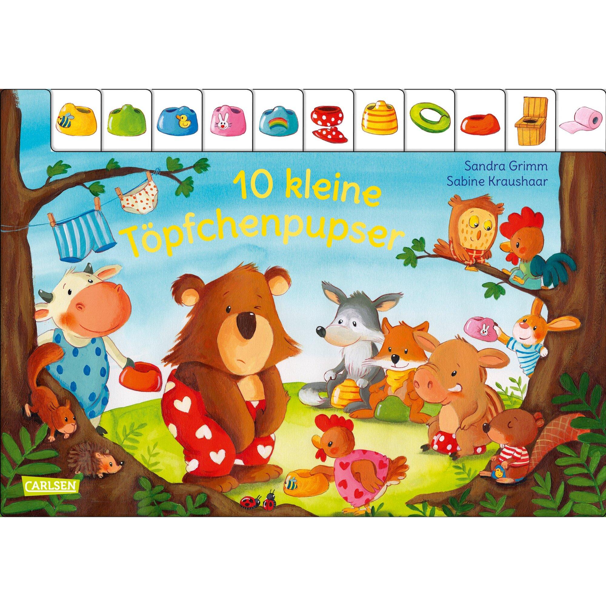 Carlsen Verlag Pappbilderbuch 10 kleine Töpfchenpupser