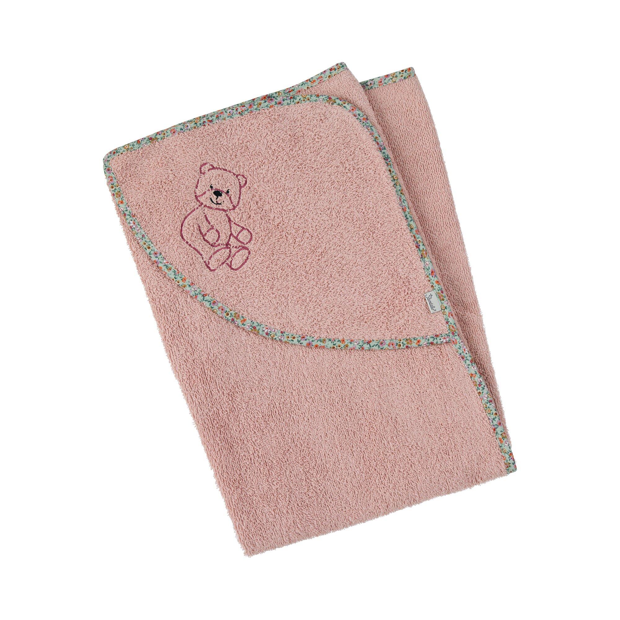 sterntaler-kapuzenbadetuch-100x100-rosa