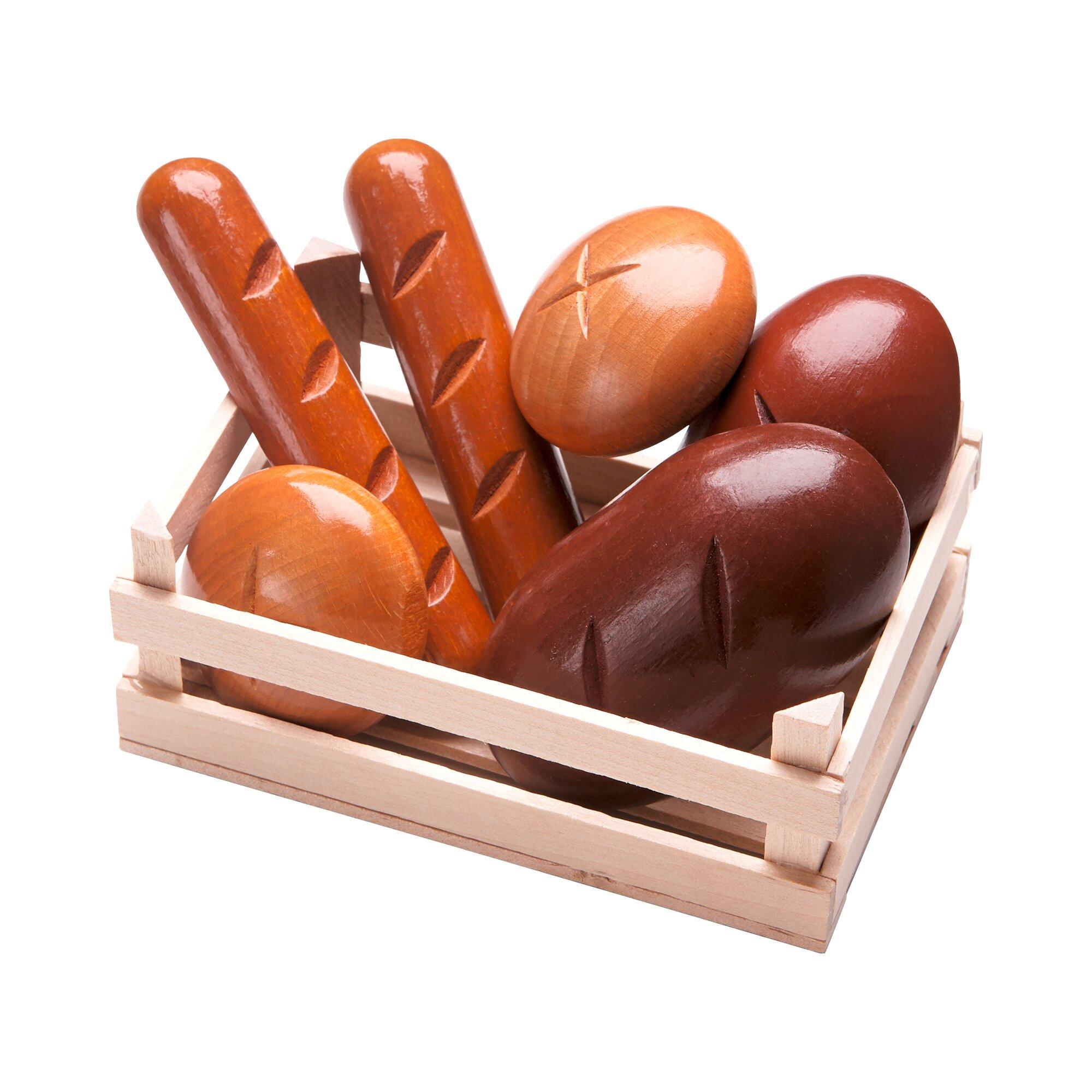 Haba Kaufladen-Set Brot und Brötchen aus Holz