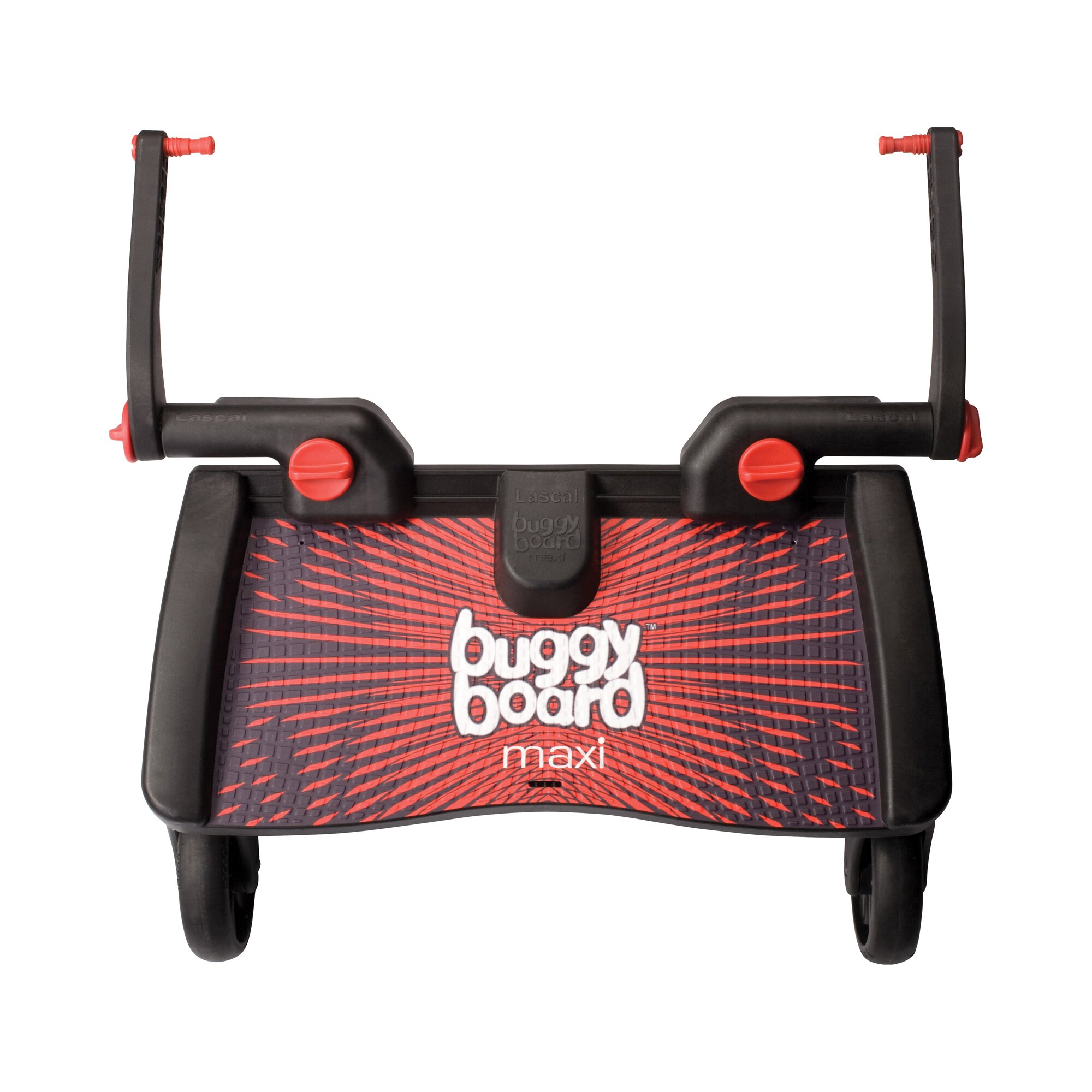 Lascal Buggy-Board Maxi für Kinderwagen, Kinderwagen Jogger, Buggy rot