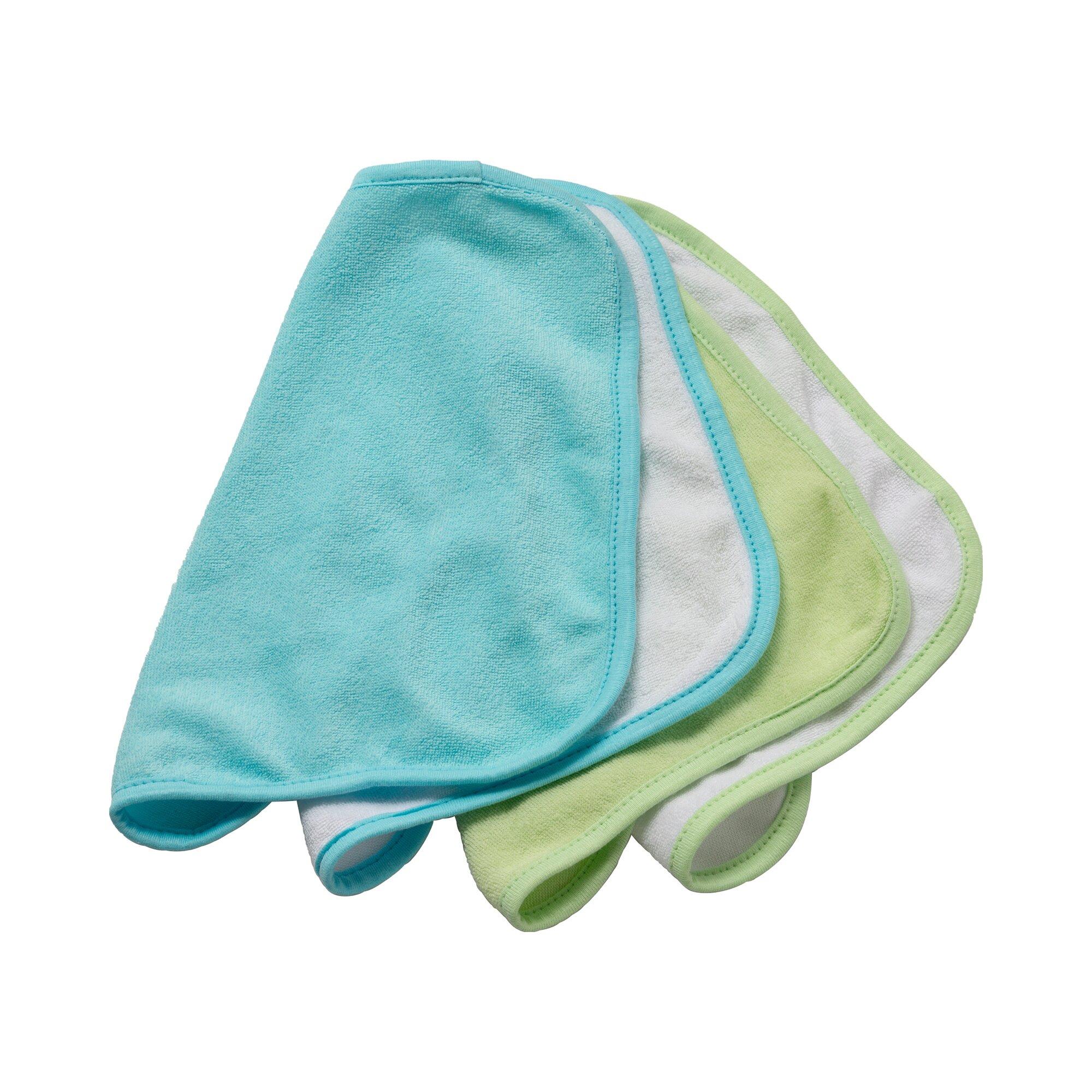 Rotho Babydesign 4er-Pack Waschtücher tuerkis