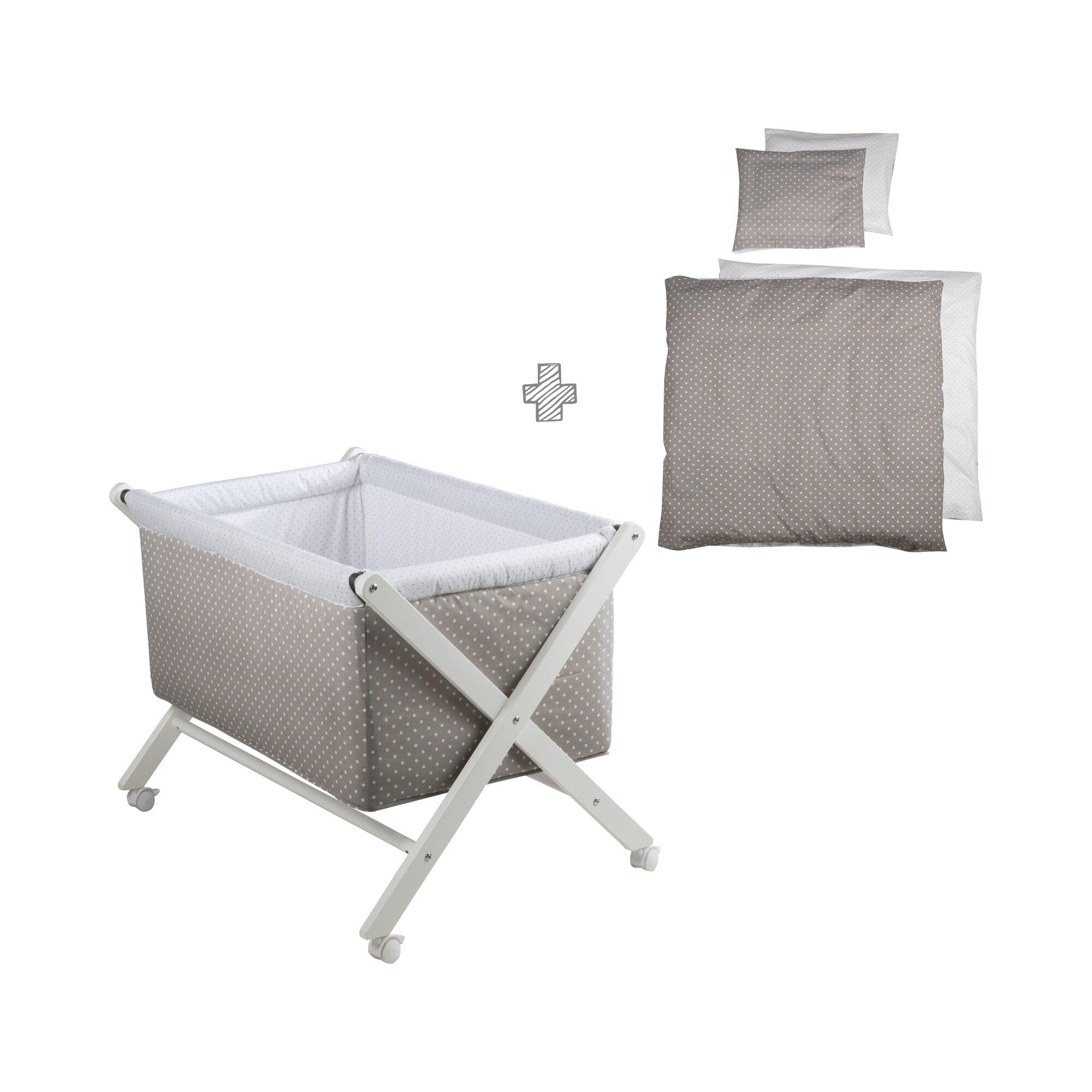 Roba Stubenwagen klappbar mit Nestchen + Bettwäsche