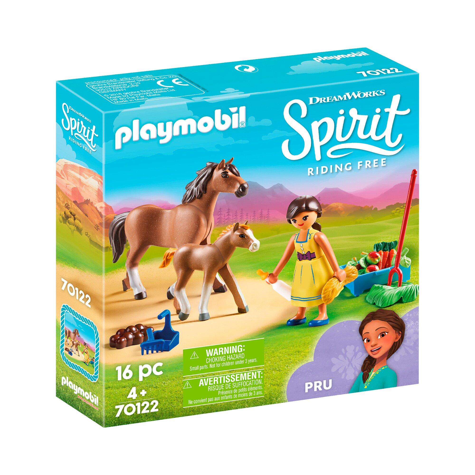 Spirit Riding Free 70122 Pru mit Pferd und Fohlen