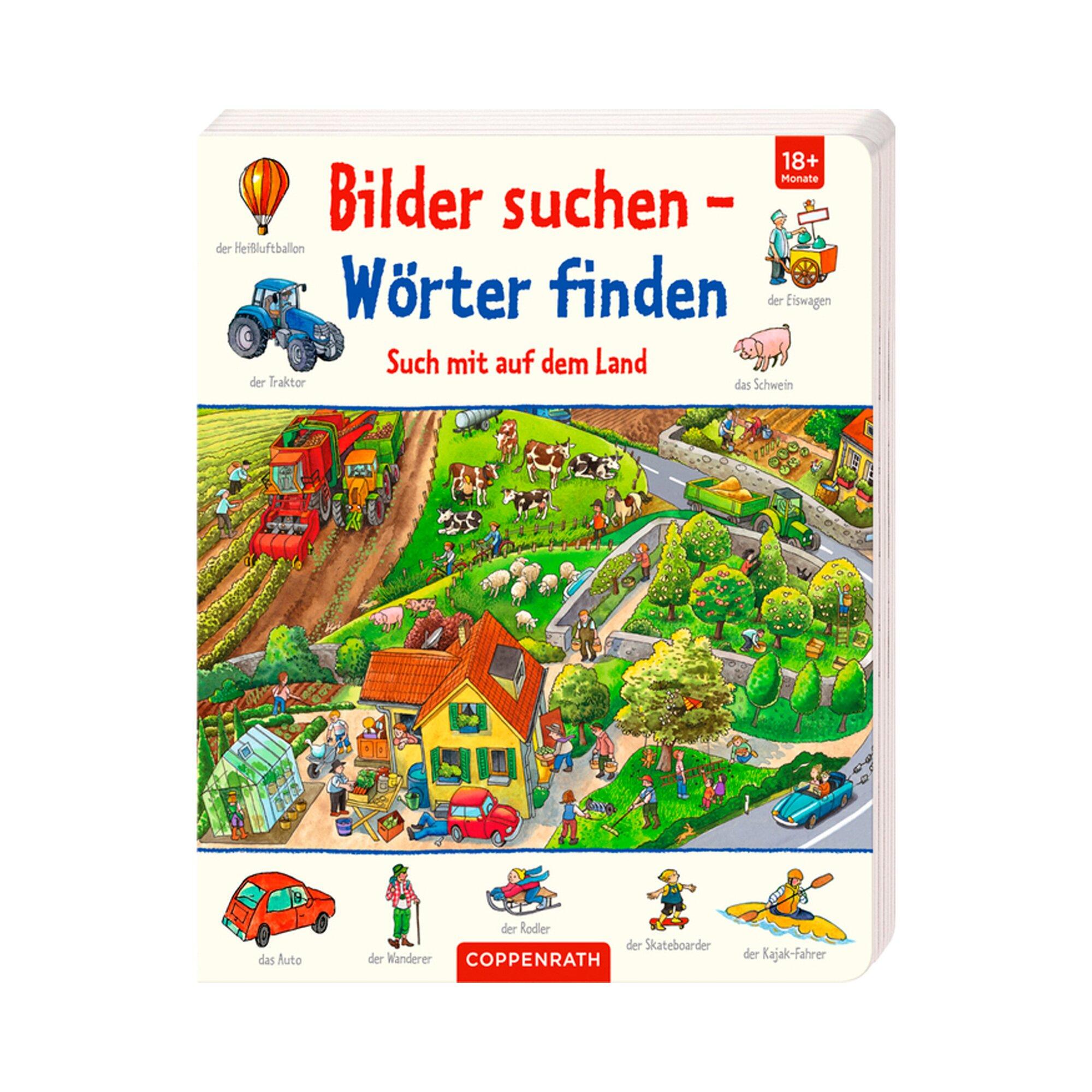 Coppenrath Die Spiegelburg Pappbilderbuch Bilder suchen - Wörter finden Such mit auf dem Land