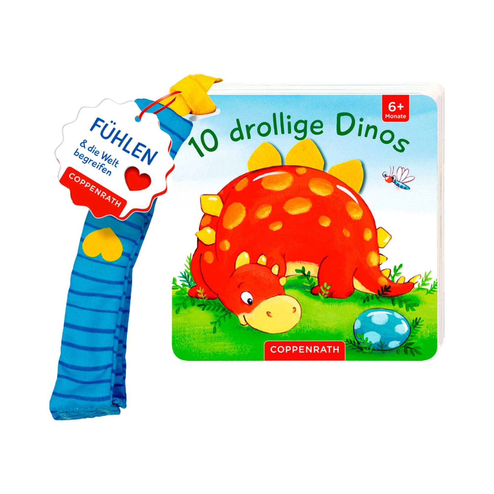Coppenrath Die Spiegelburg Fühlbuch für den Buggy - 10 drollige Dinos