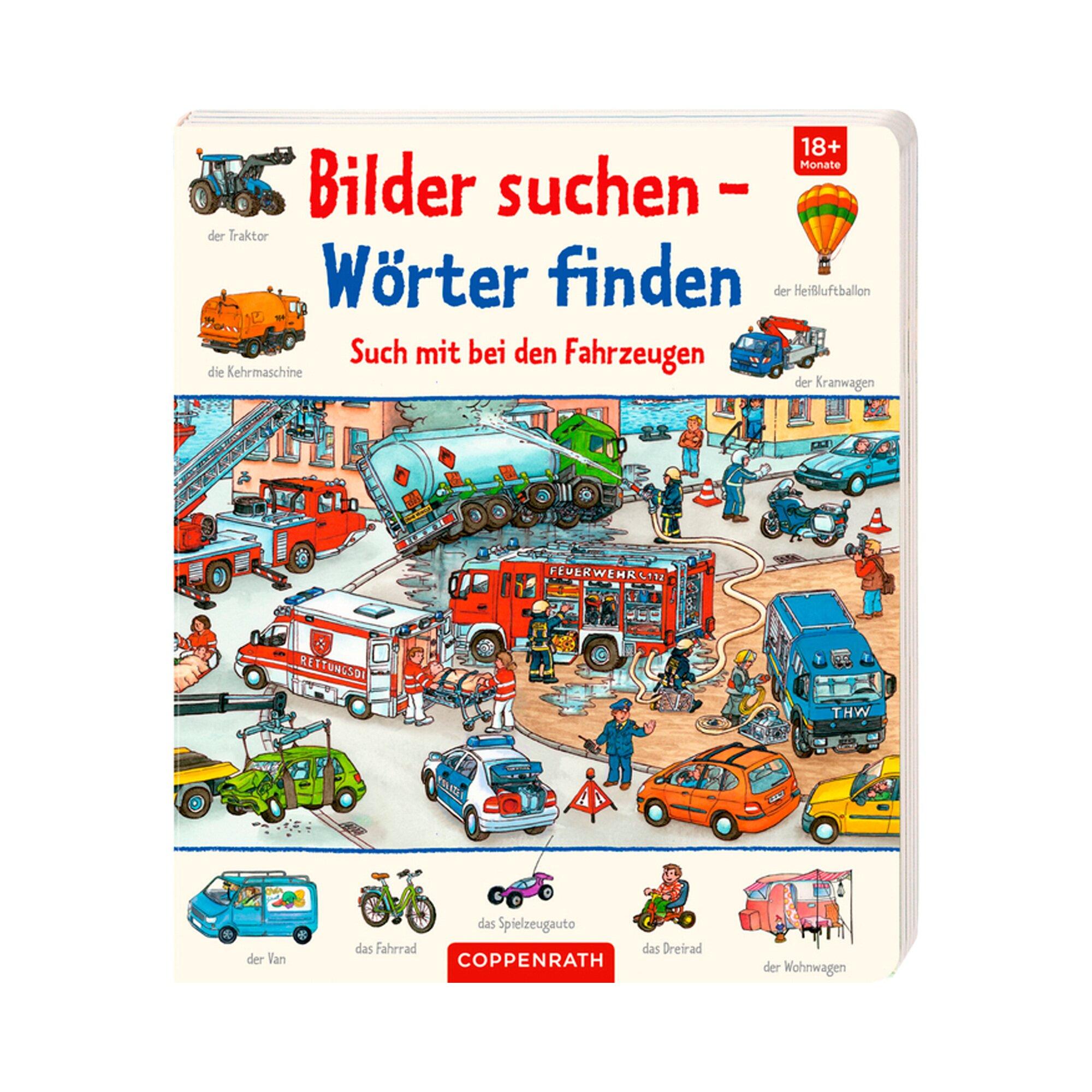 Coppenrath Die Spiegelburg Pappbilderbuch Bilder suchen - Wörter finden Such mit bei den Fahrzeugen