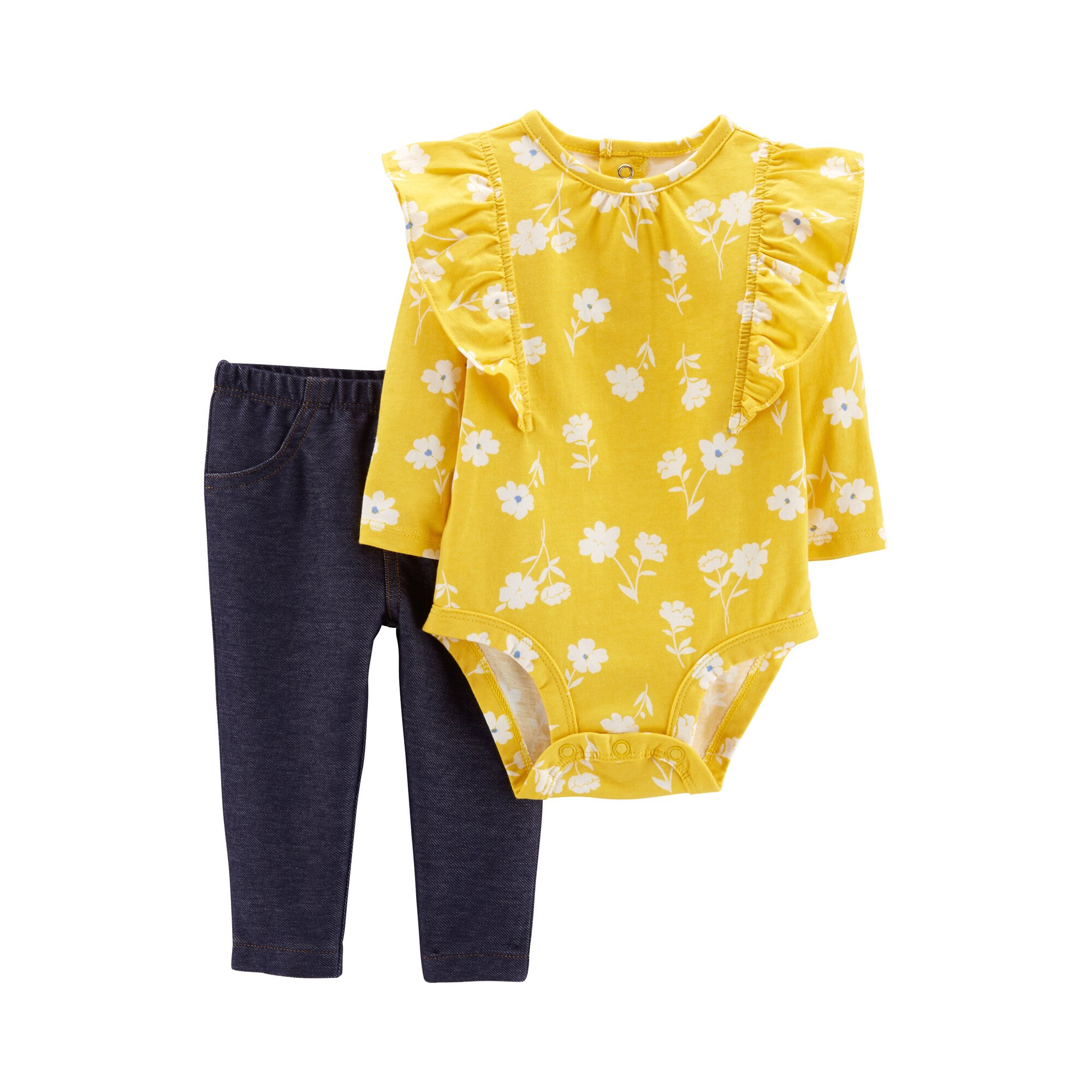 Carter´S 2-tlg. Set Body langarm und Leggings Blumen