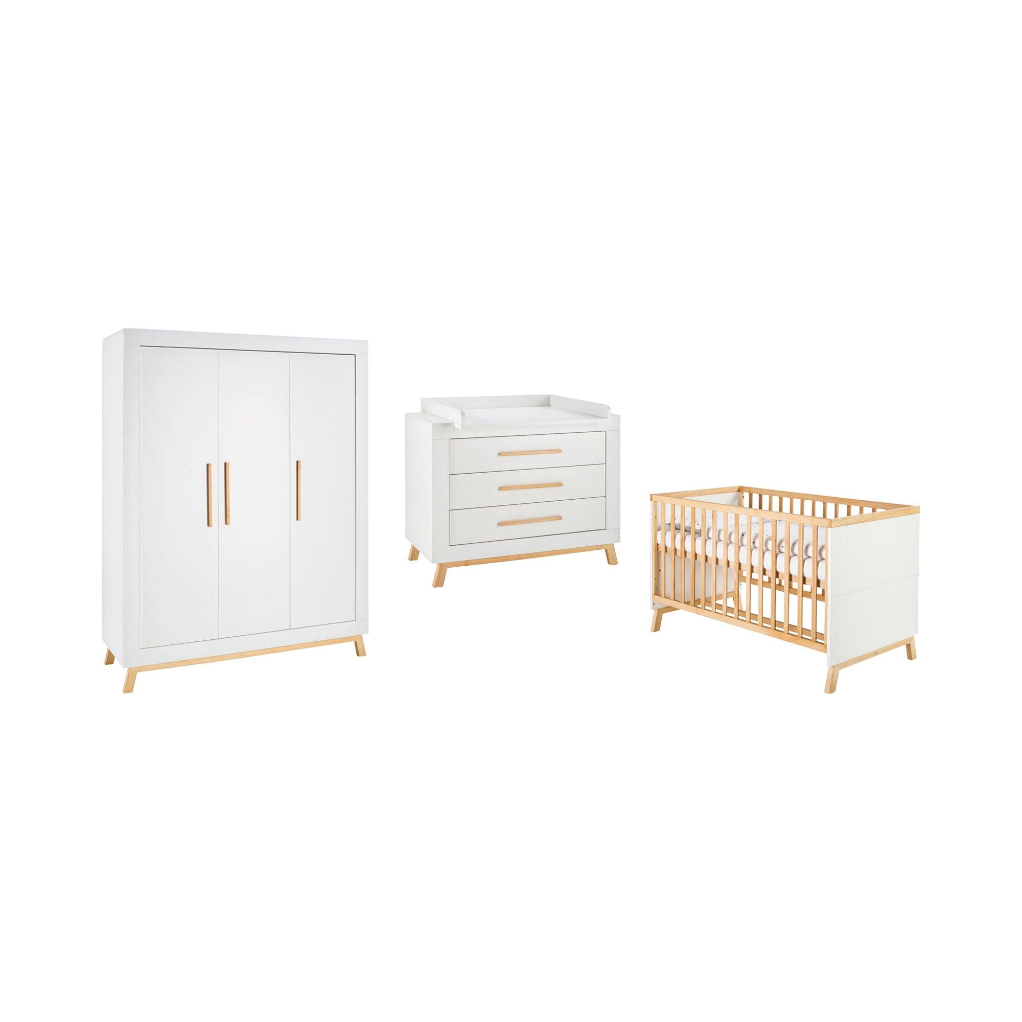 schardt-3-tlg-babyzimmer-miami-white-mit-3-turigem-kleiderschrank