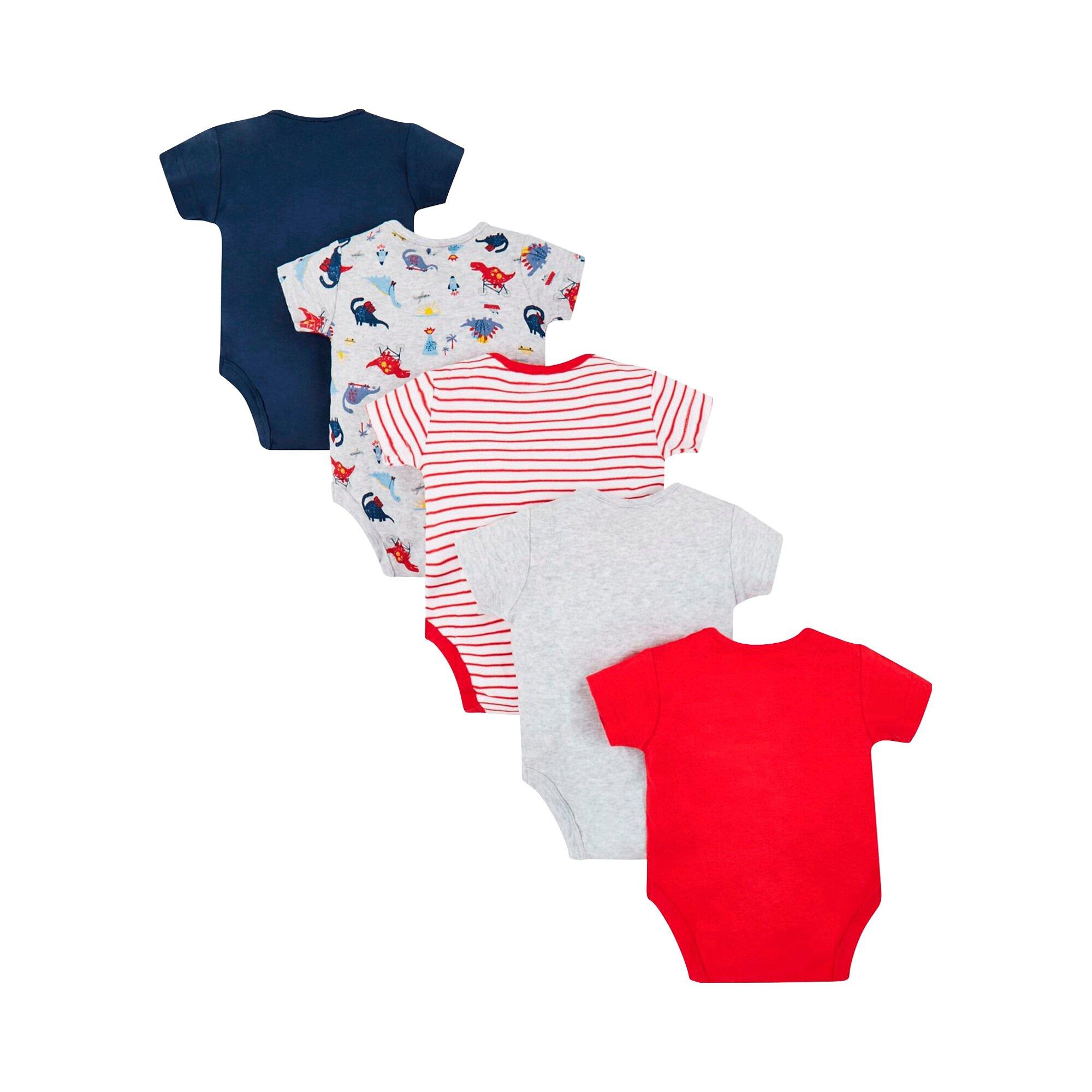 mothercare-5er-pack-bodys-kurzarm-dino