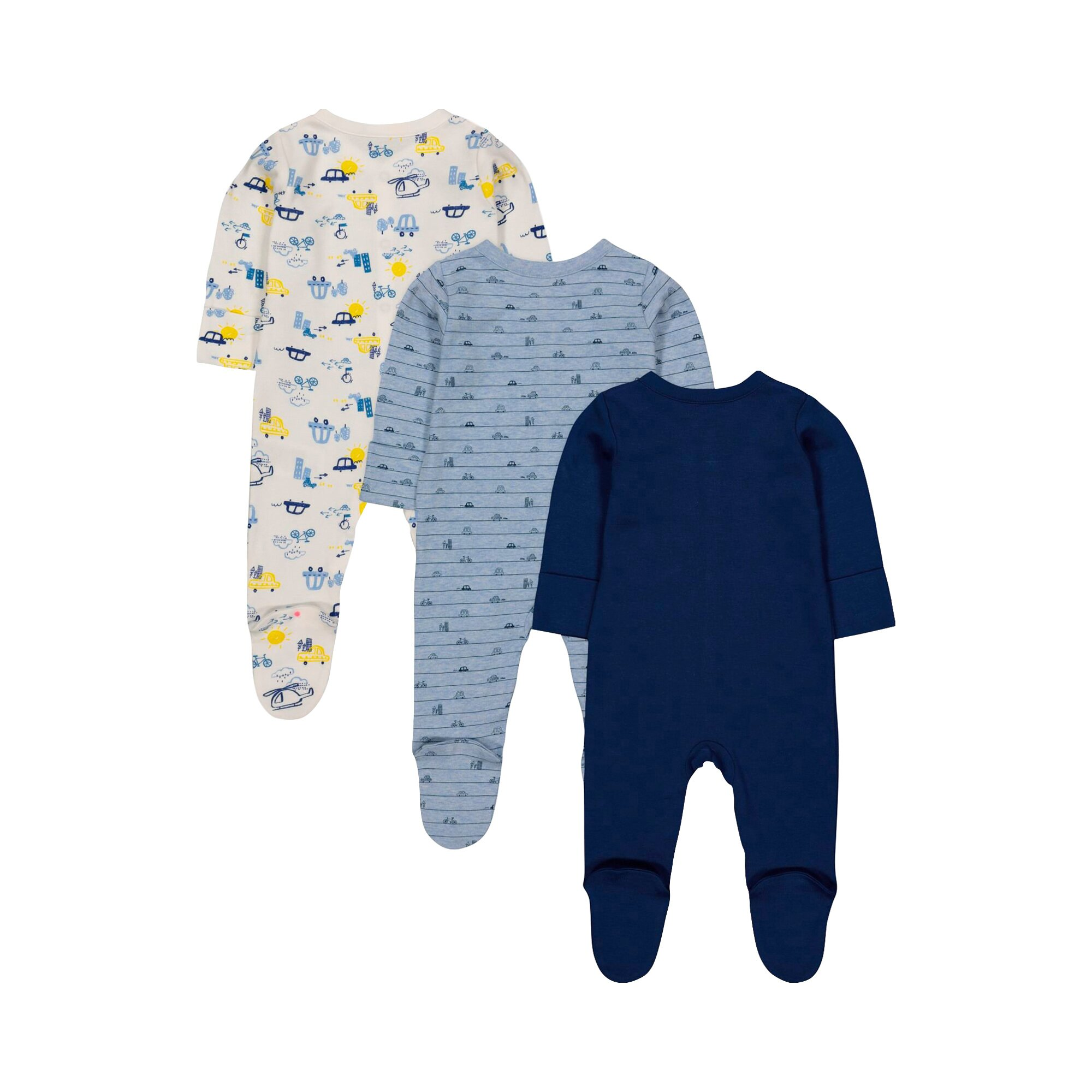 mothercare-3er-pack-schlafoveralls-autos