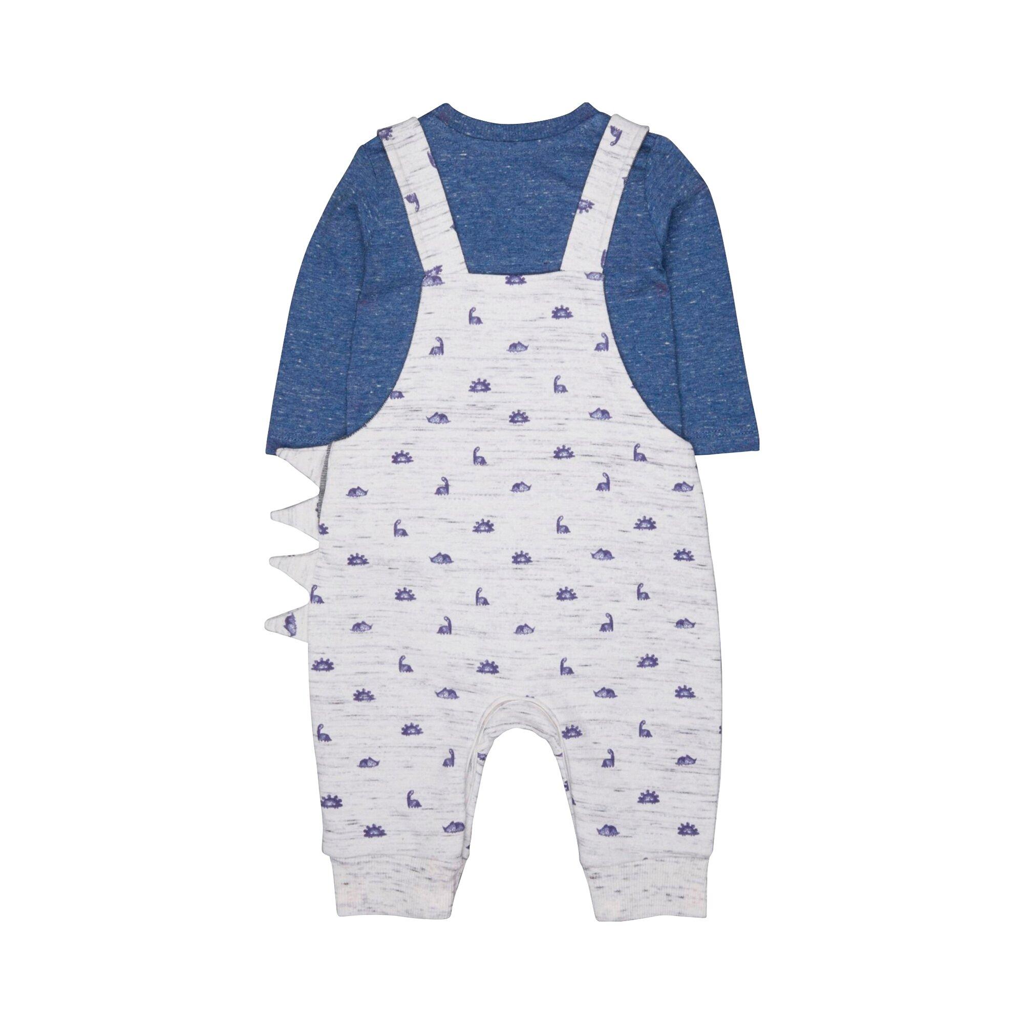 mothercare-2-tlg-set-sweat-latzhose-und-shirt-langarm-dinos