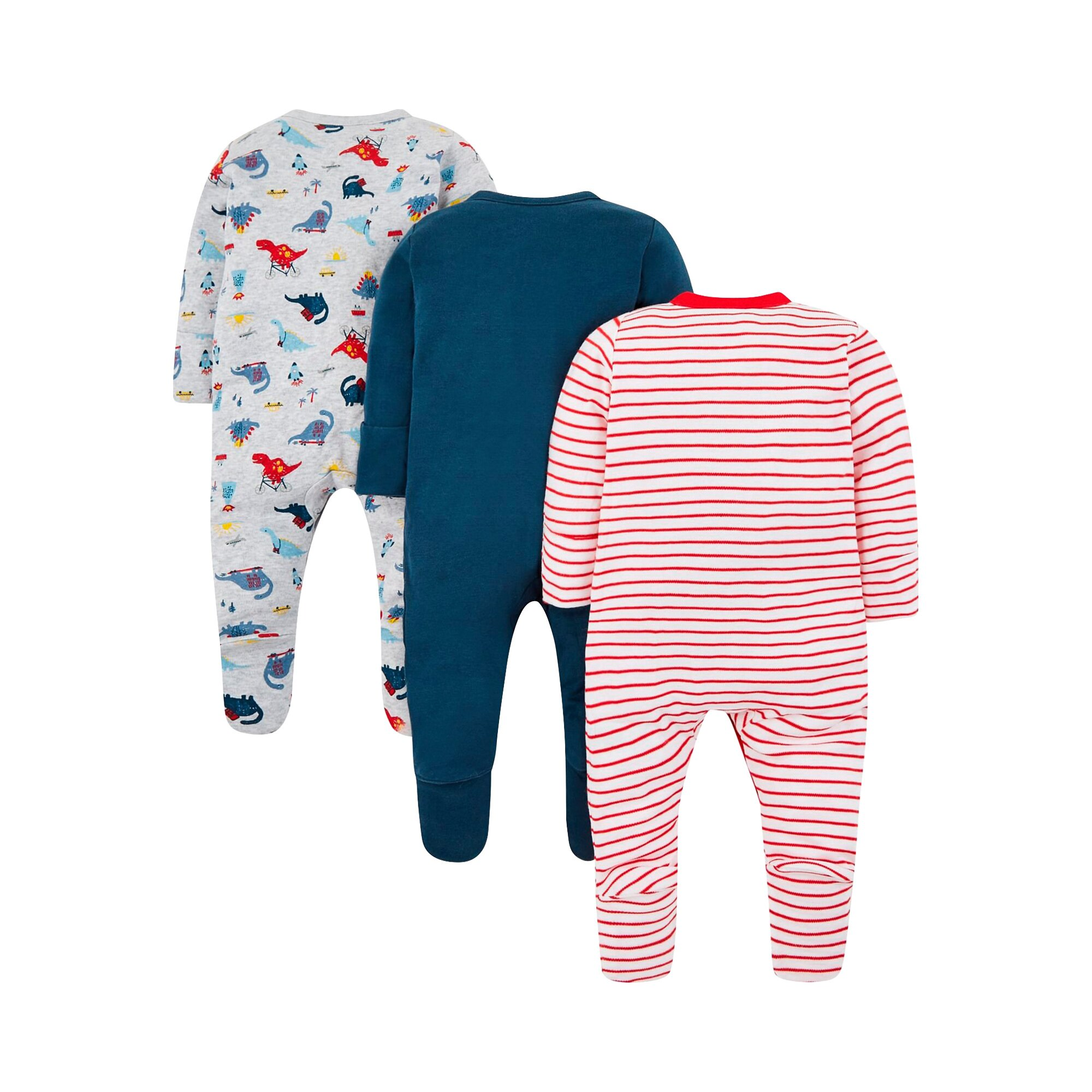 mothercare-3er-pack-schlafoveralls-dinos