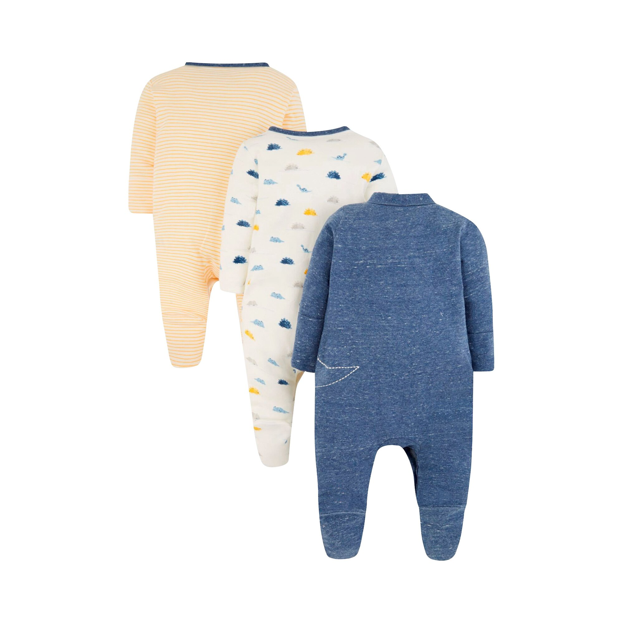mothercare-3er-pack-schlafoveralls-dino