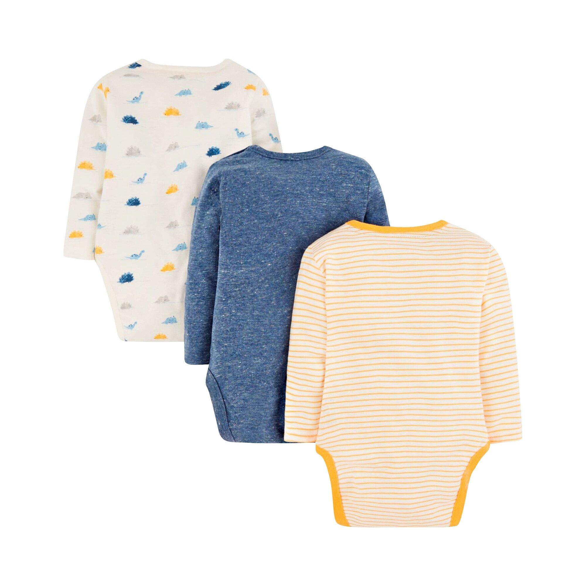 mothercare-3er-pack-bodys-langarm-dino