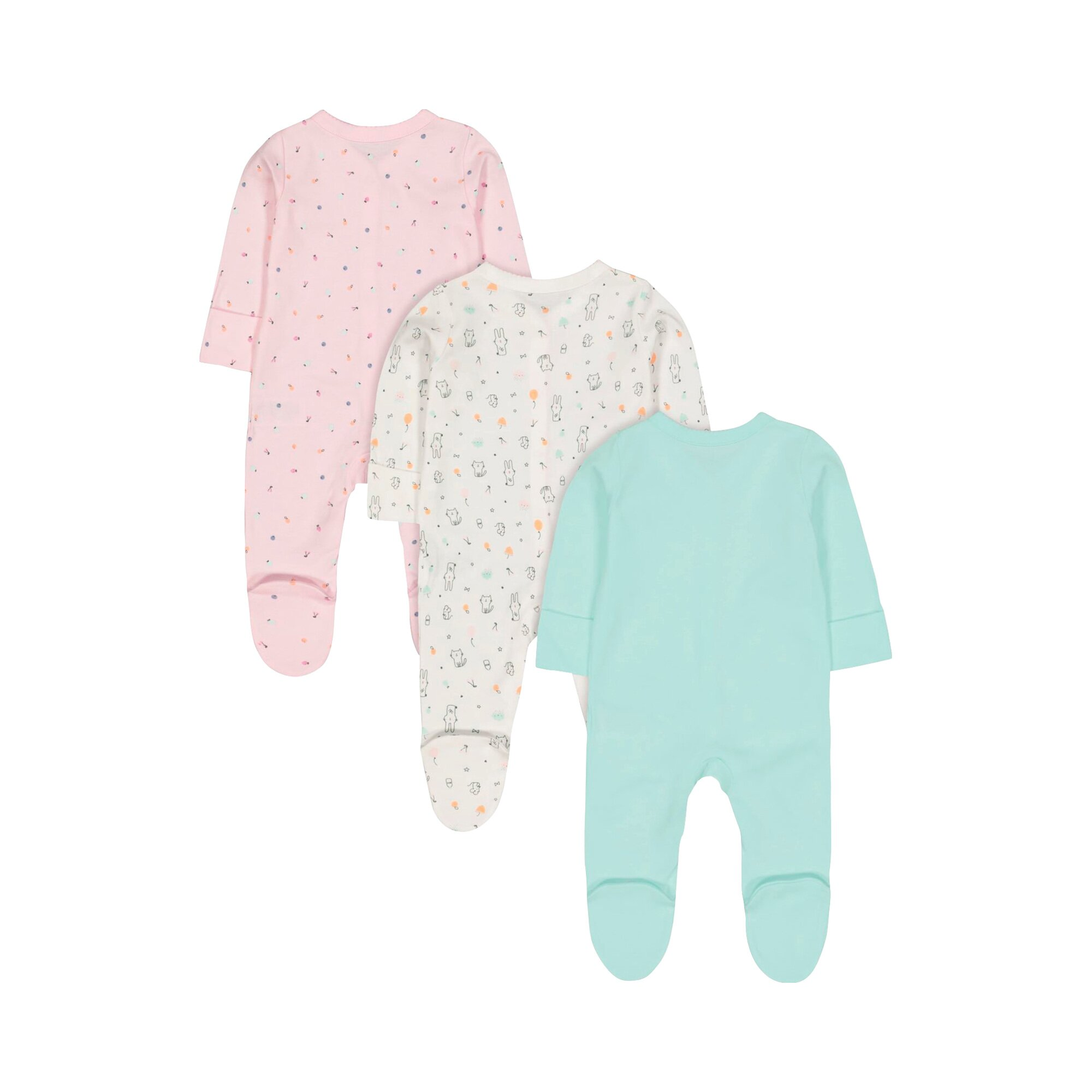 mothercare-3er-pack-schlafoveralls-tiere