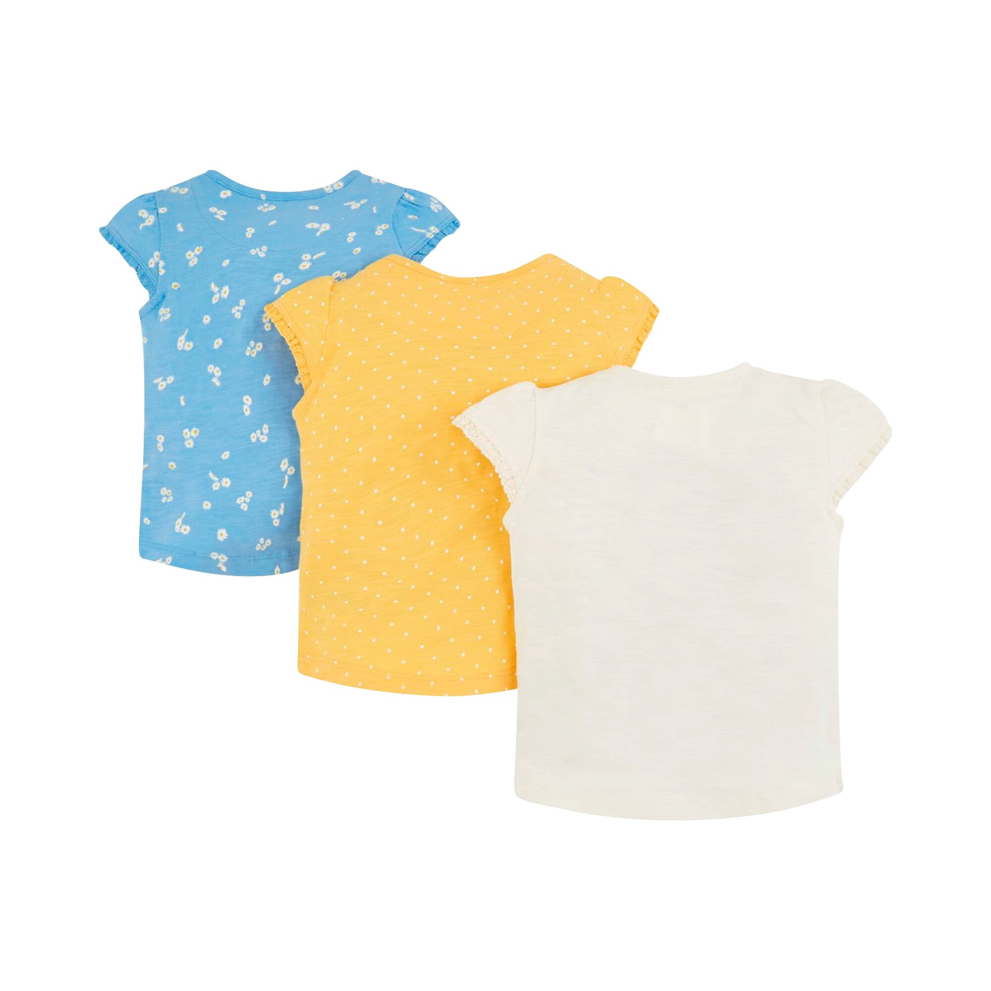 mothercare-3er-pack-t-shirts-madchen-punkte-blumen