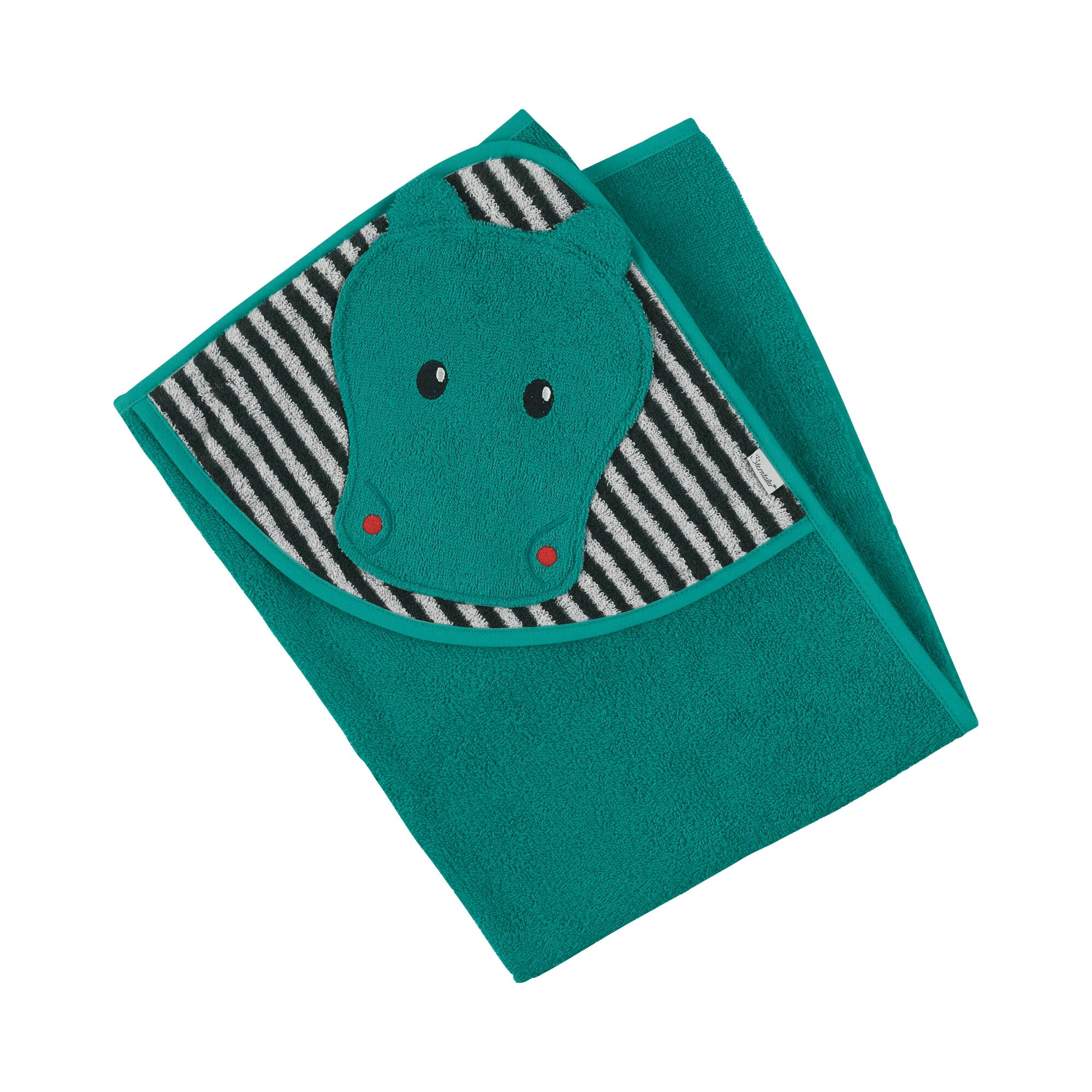 sterntaler-kapuzen-badetuch-mit-applikation-80x80-cm-kuschelzoo-gruen