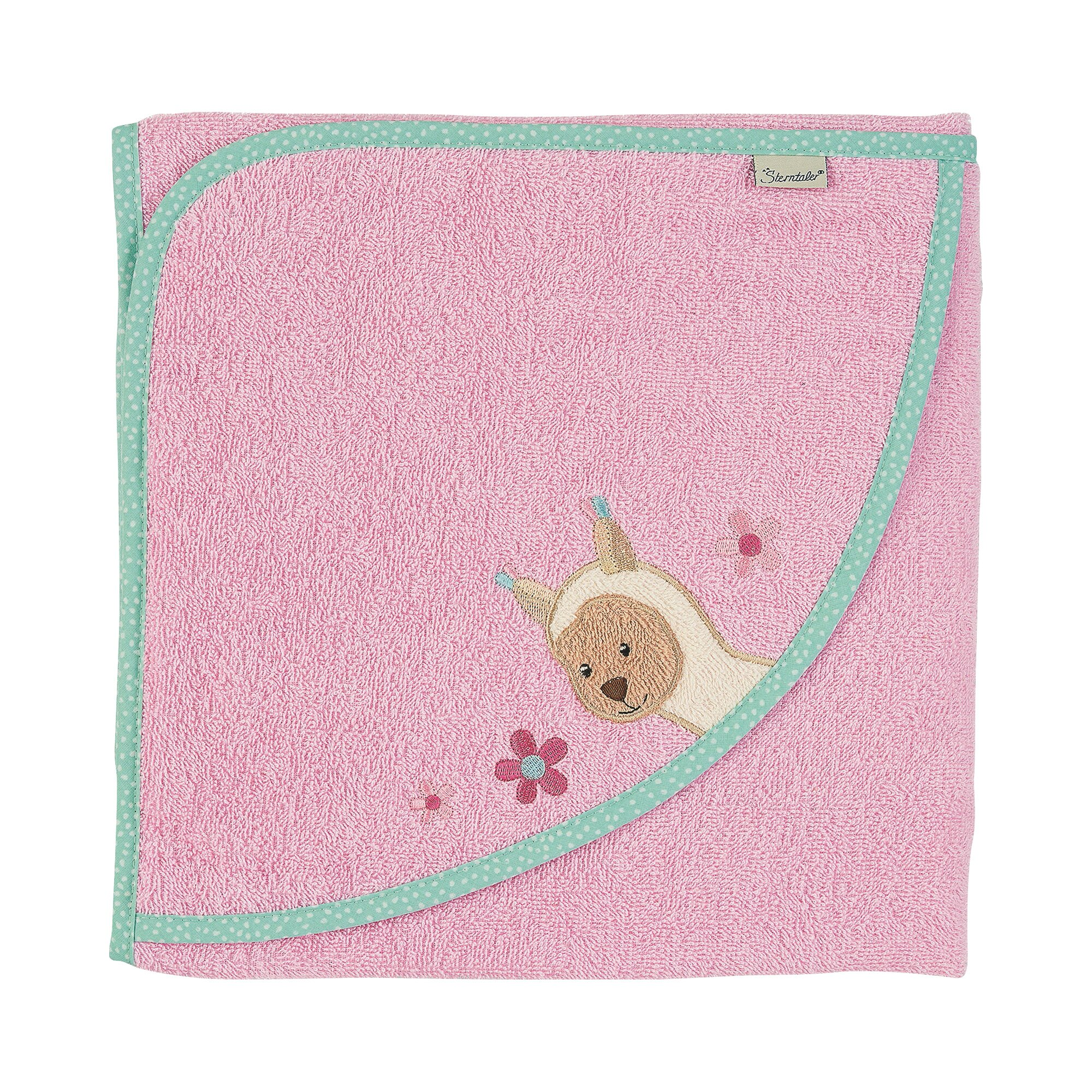 sterntaler-kapuzen-badetuch-100x100-cm-kuschelzoo-rosa
