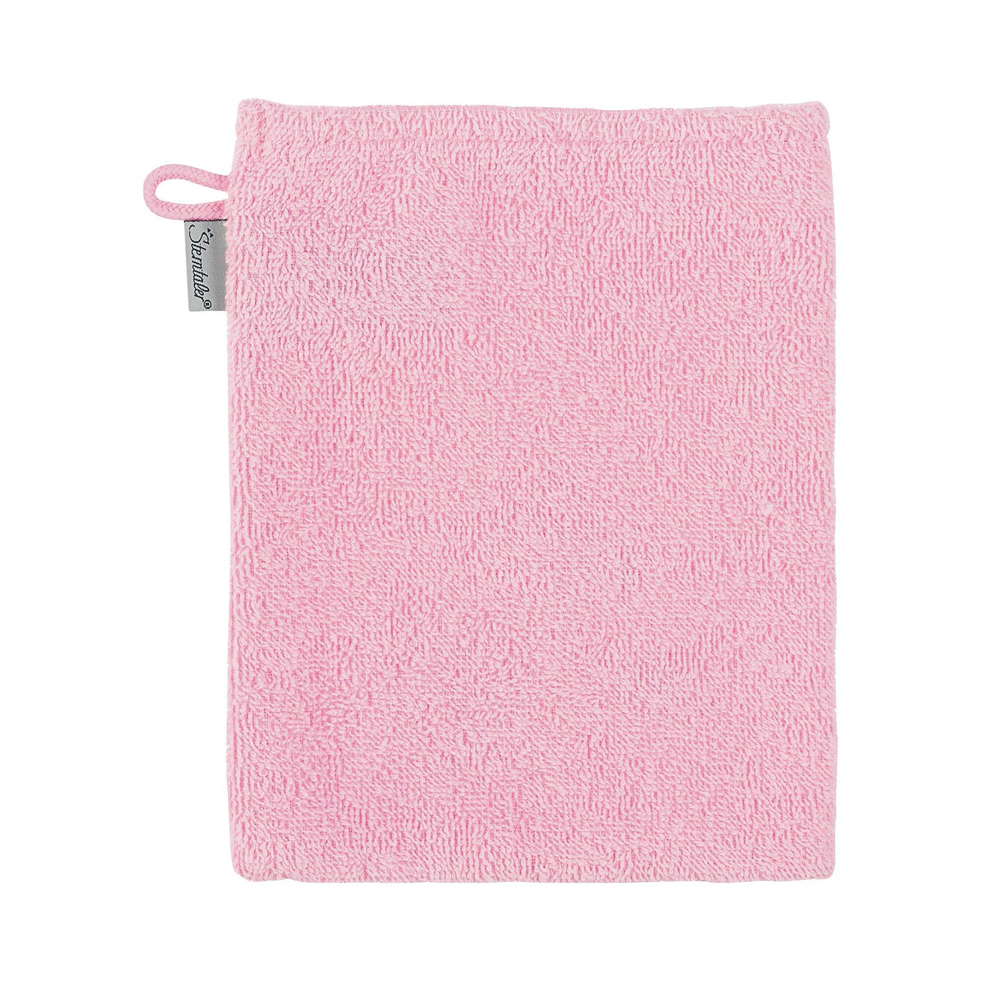 sterntaler-waschlappen-kuschelzoo-rosa