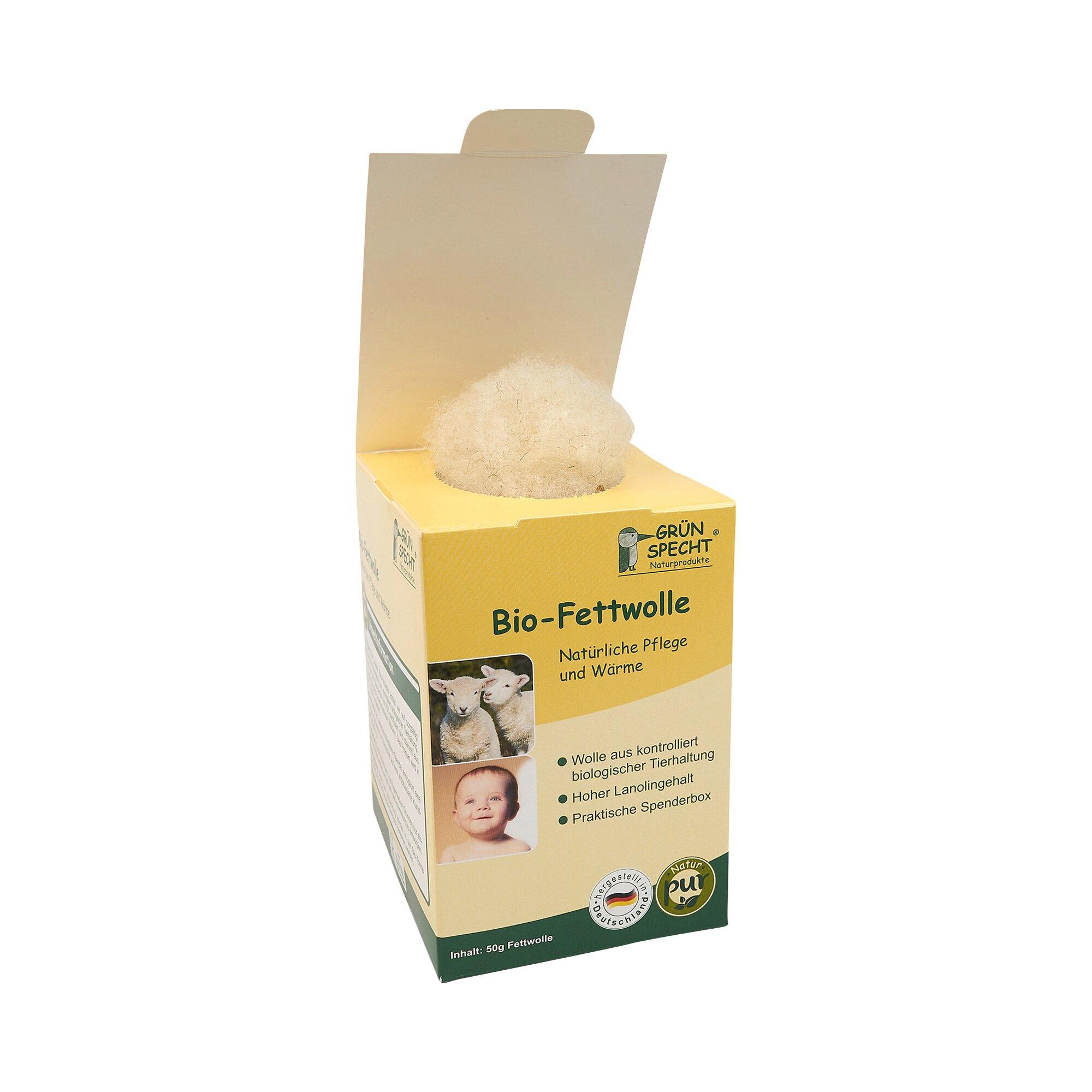 Grünspecht Bio-Fettwolle, 50g