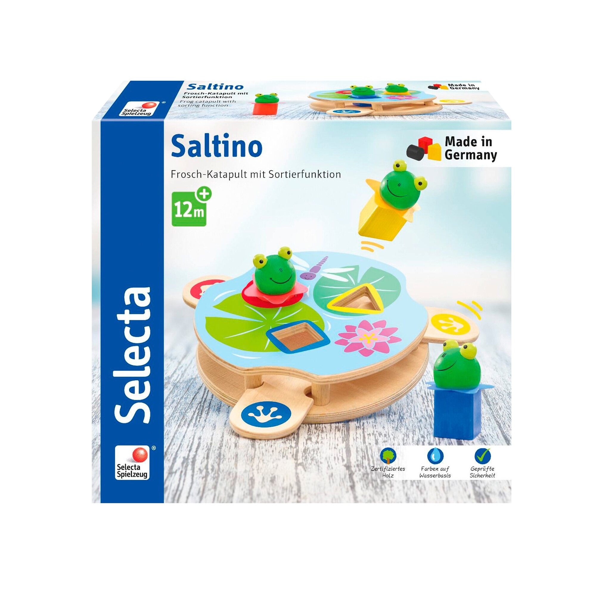 selecta-steckspiel-saltino-frosch-katapult-aus-holz