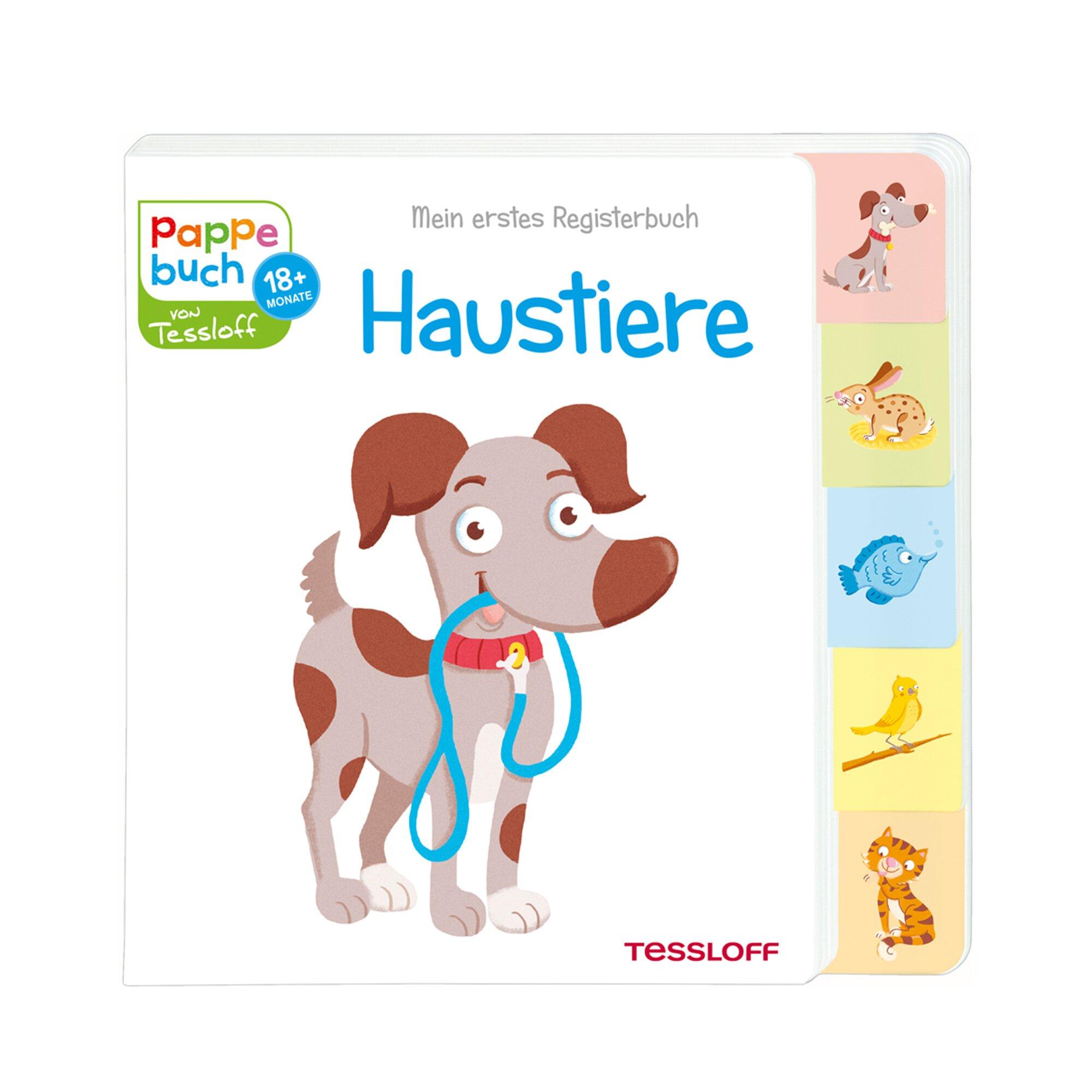 Tessloff Verlag Pappbilderbuch Mein erstes Registerbuch - Haustiere