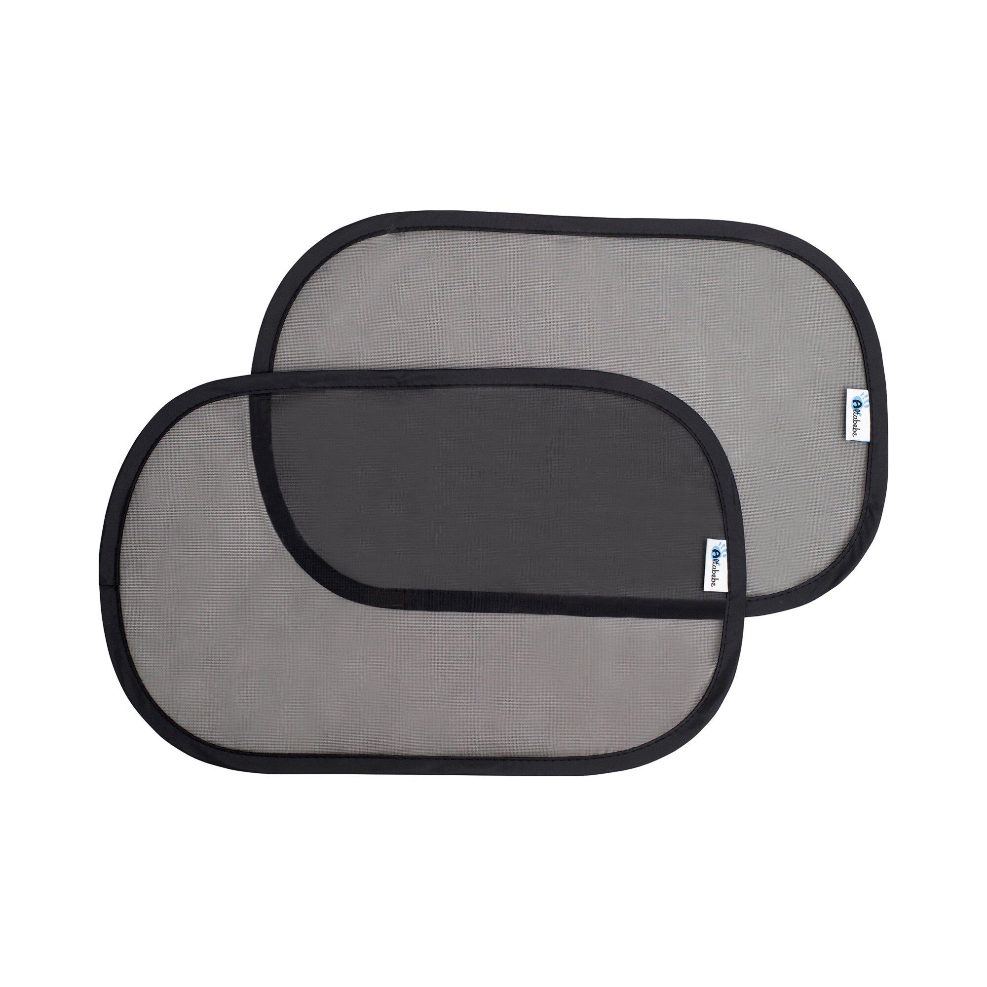 Altabebe 2er-Pack Auto-Sonnenschutz selbstklebend schwarz