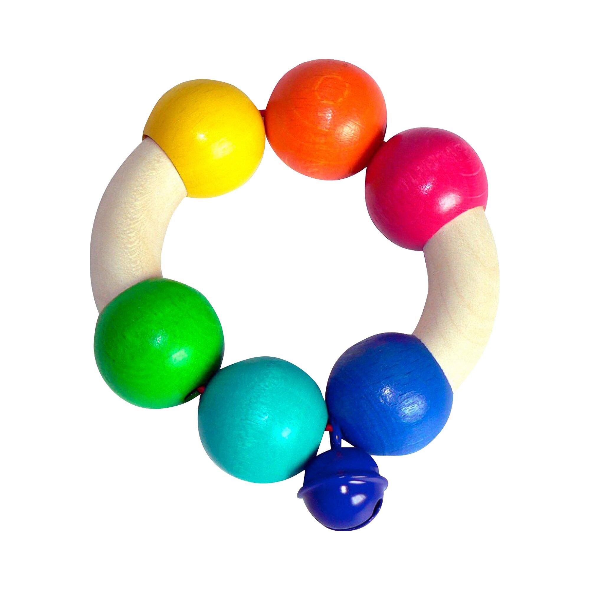 Hess Spielzeug Rassel Regenbogen aus Holz