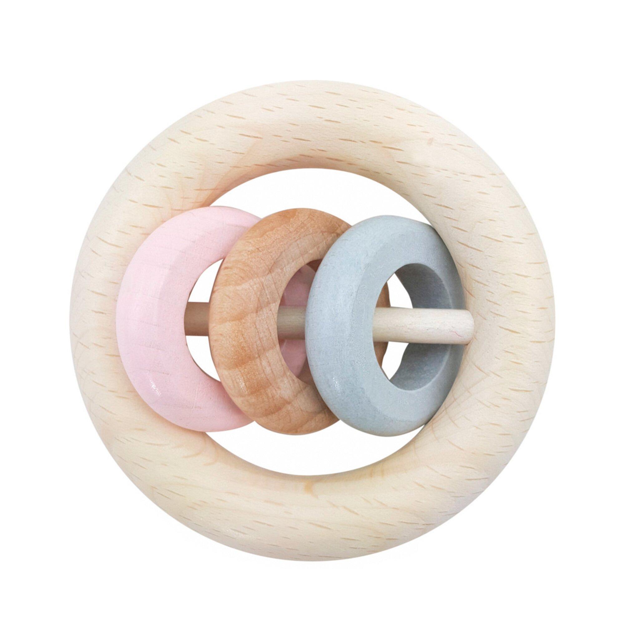 Hess Spielzeug Rassel 3 Ringe aus Holz