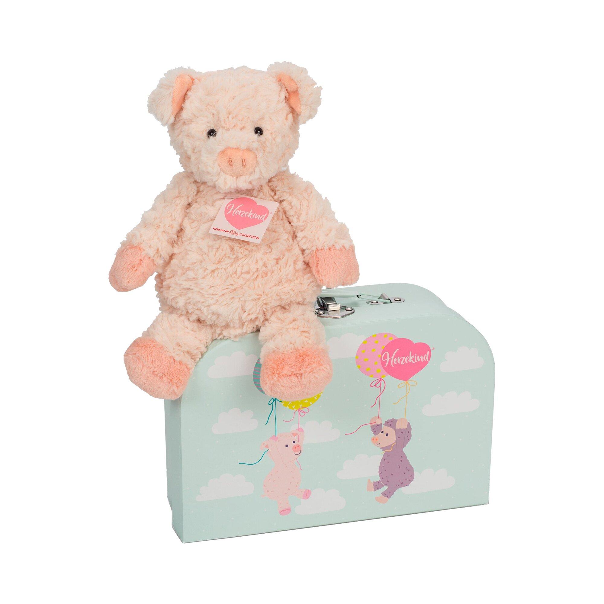 Herzekind Kuscheltier Schweinchen Sunny mit Koffer 27cm