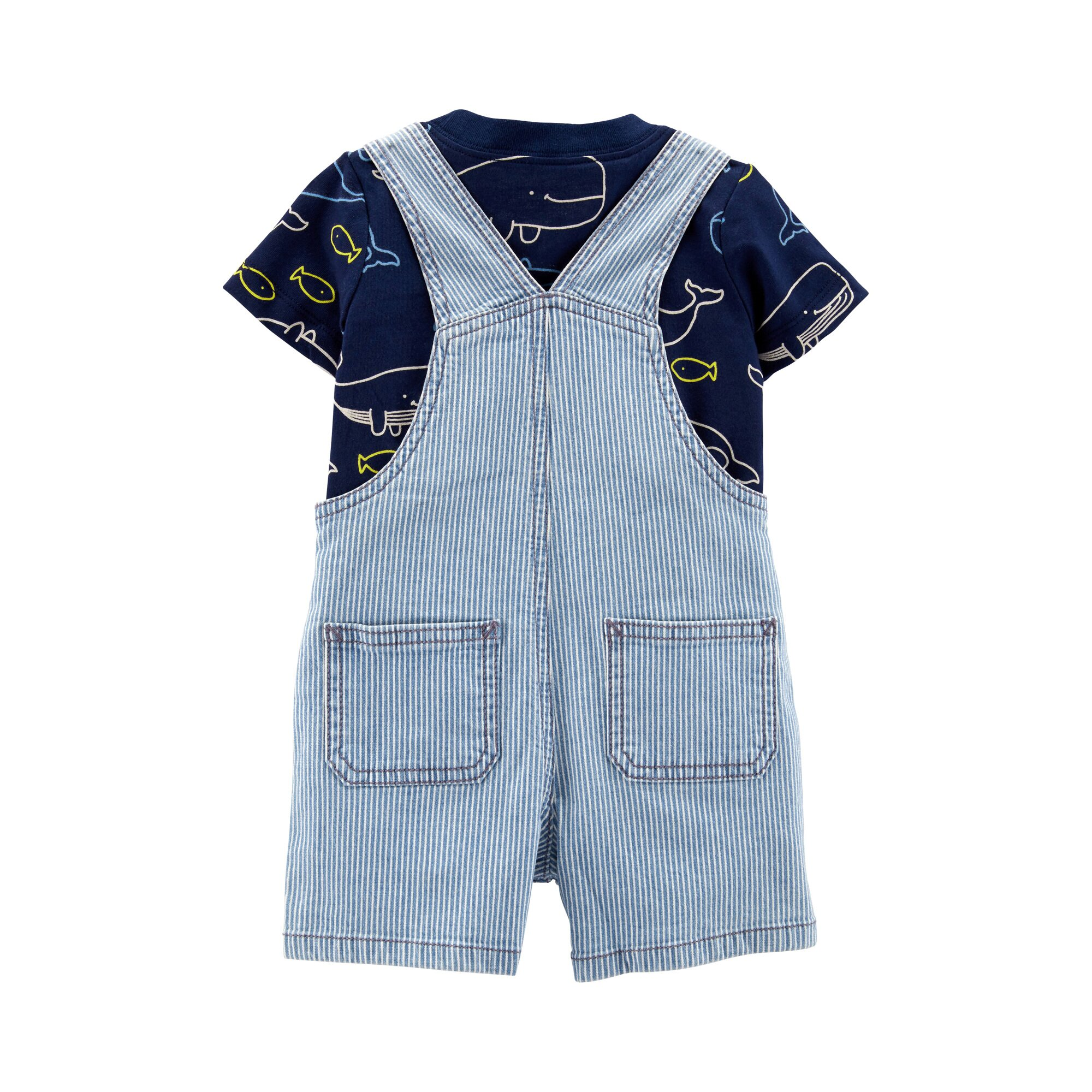 carter-s-2-tlg-set-jeans-latzhose-kurz-und-t-shirt-wale
