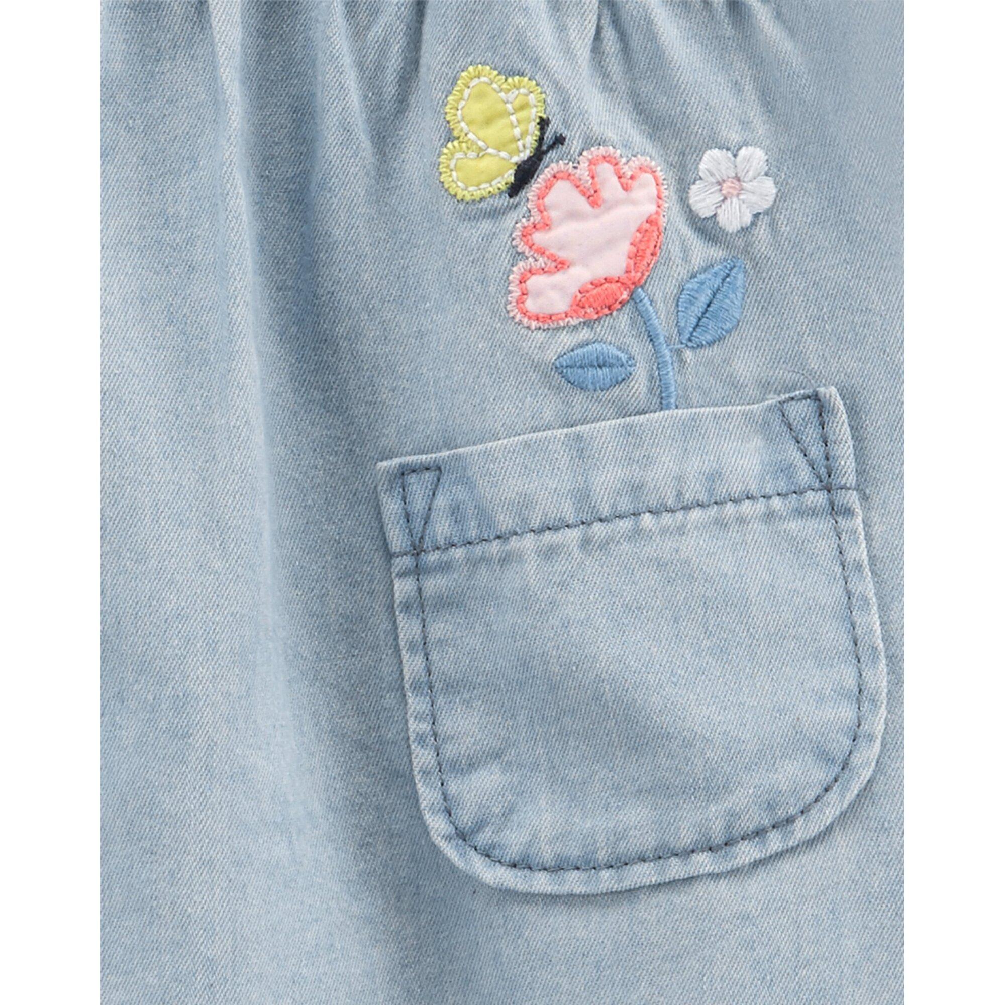 carter-s-2-tlg-set-jeans-tunika-flugelarm-und-leggings-blumen