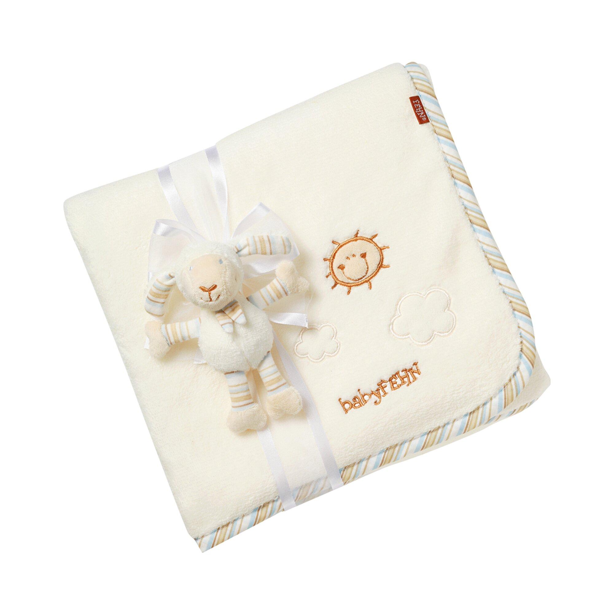 Fehn Kuscheldecke Schaf Baby Love 100 x 75 cm beige