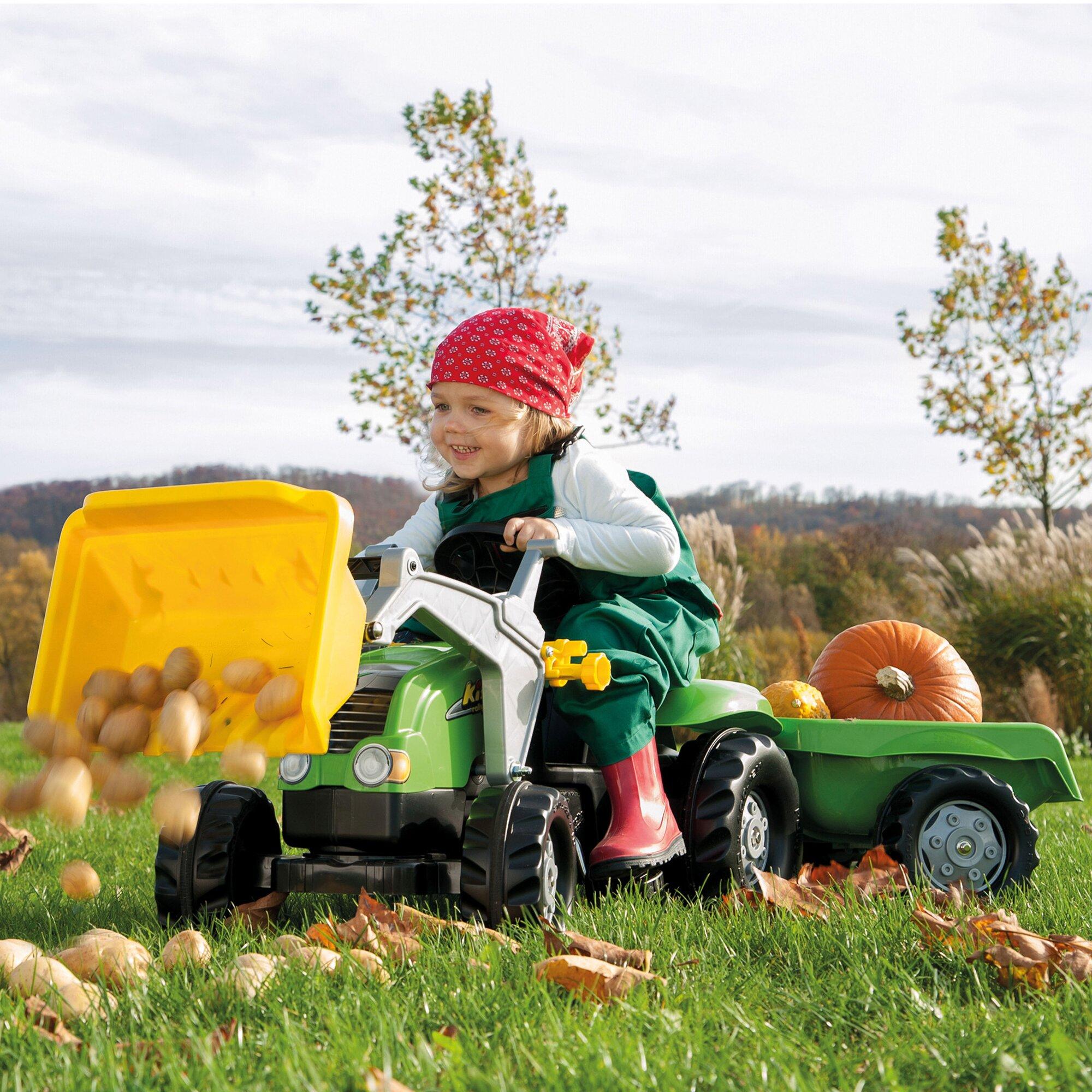 rolly-toys-trettraktor-rollykid-x-mit-anhanger