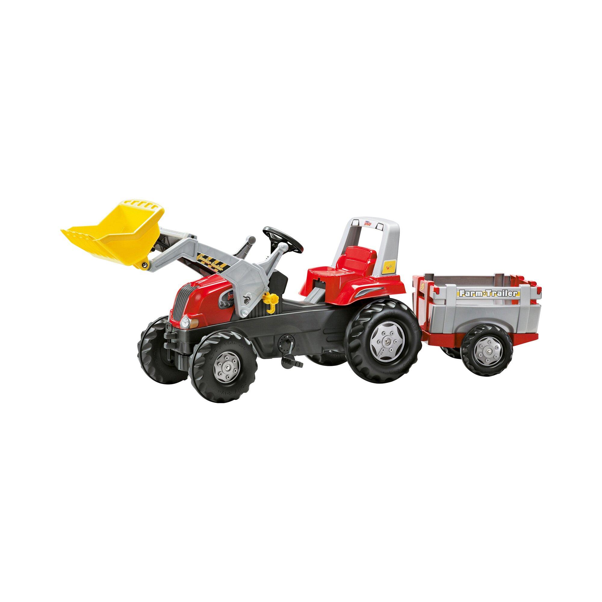 Rolly Toys® Trettraktor rollyJunior RT mit Frontlader und Anhänger