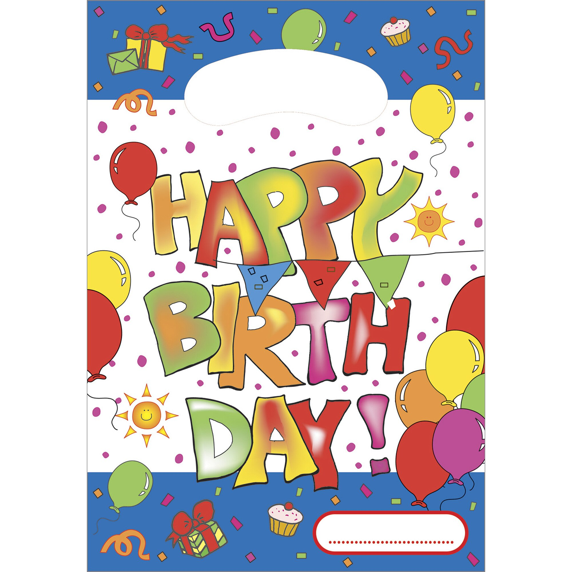 "Partytüten ""Happy Birthday"" 6 Stck."